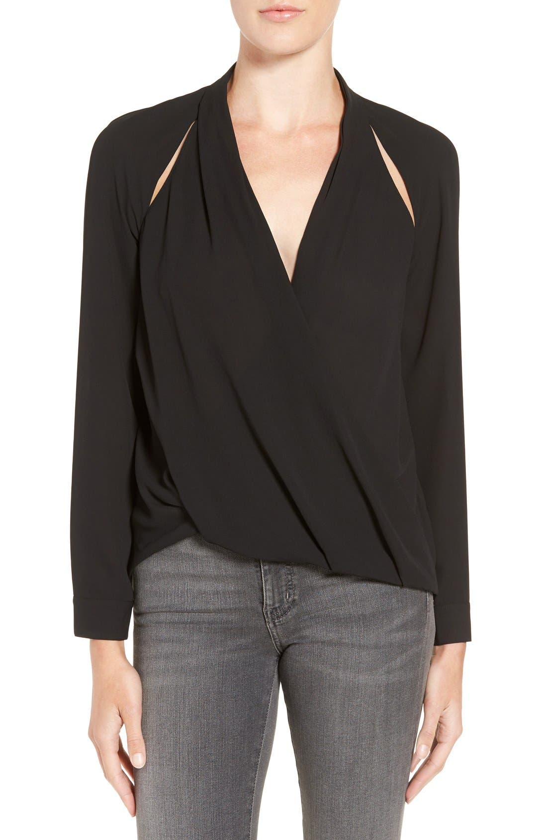 Main Image - Trouvé Cutout Surplice Top