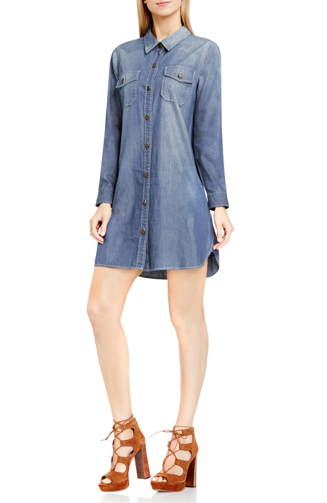 Alternate Image 3  - Two by Vince Camuto Denim Shirtdress