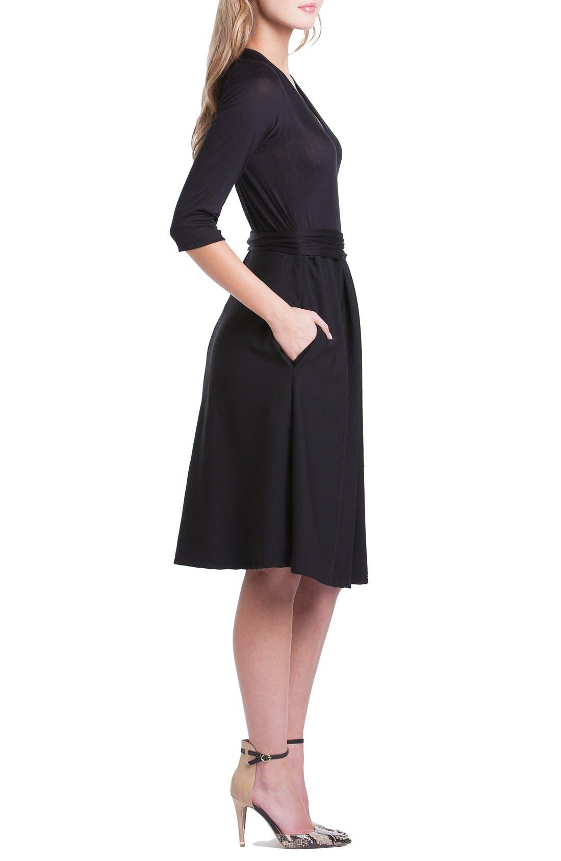 Abby Maternity/Nursing Dress,                             Alternate thumbnail 4, color,                             Black