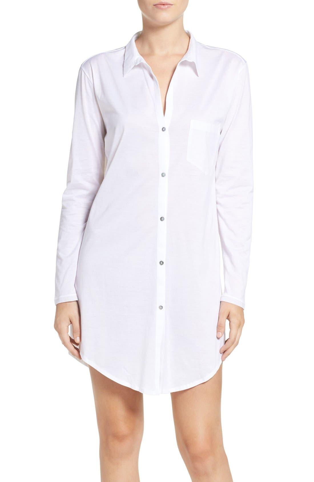 Hanro 'Deluxe Boyfriend' Jersey Sleep Shirt