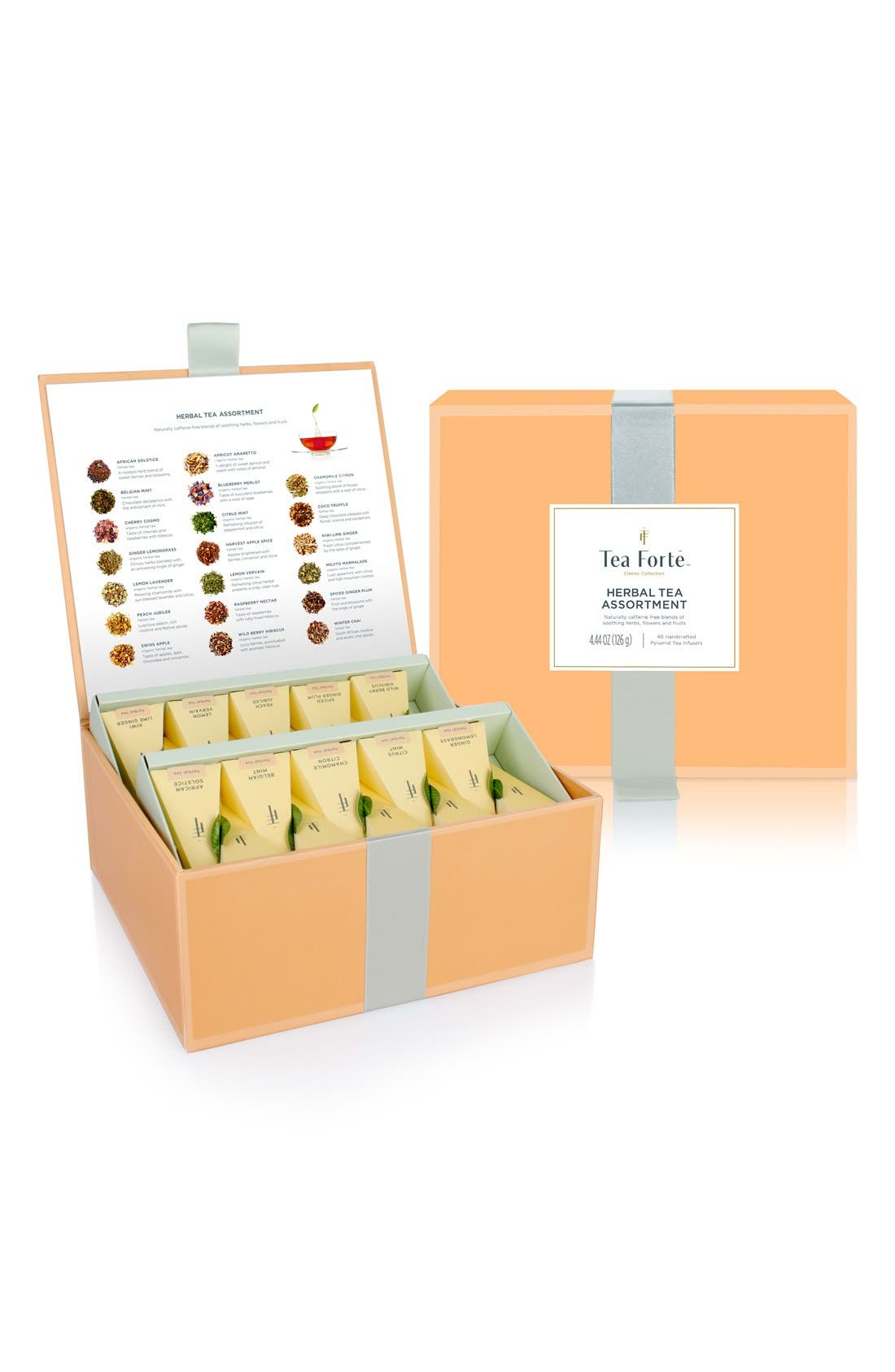 'Classic Collection' Assorted Herbal Tea Infuser Chest,                             Main thumbnail 1, color,                             Orange