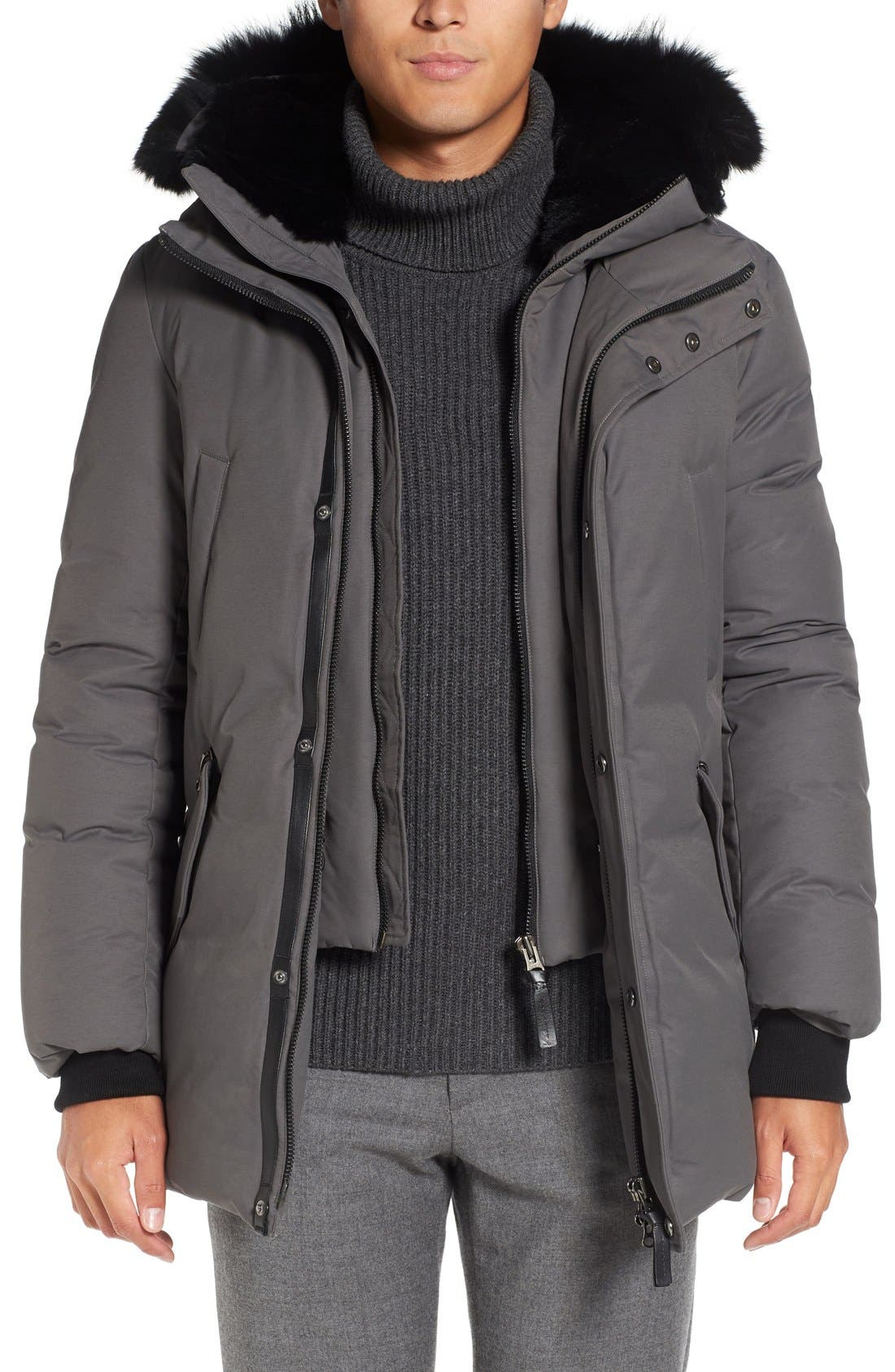 Main Image - Mackage 'Edward' Down Parka with Genuine Coyote and Rabbit Fur Trim