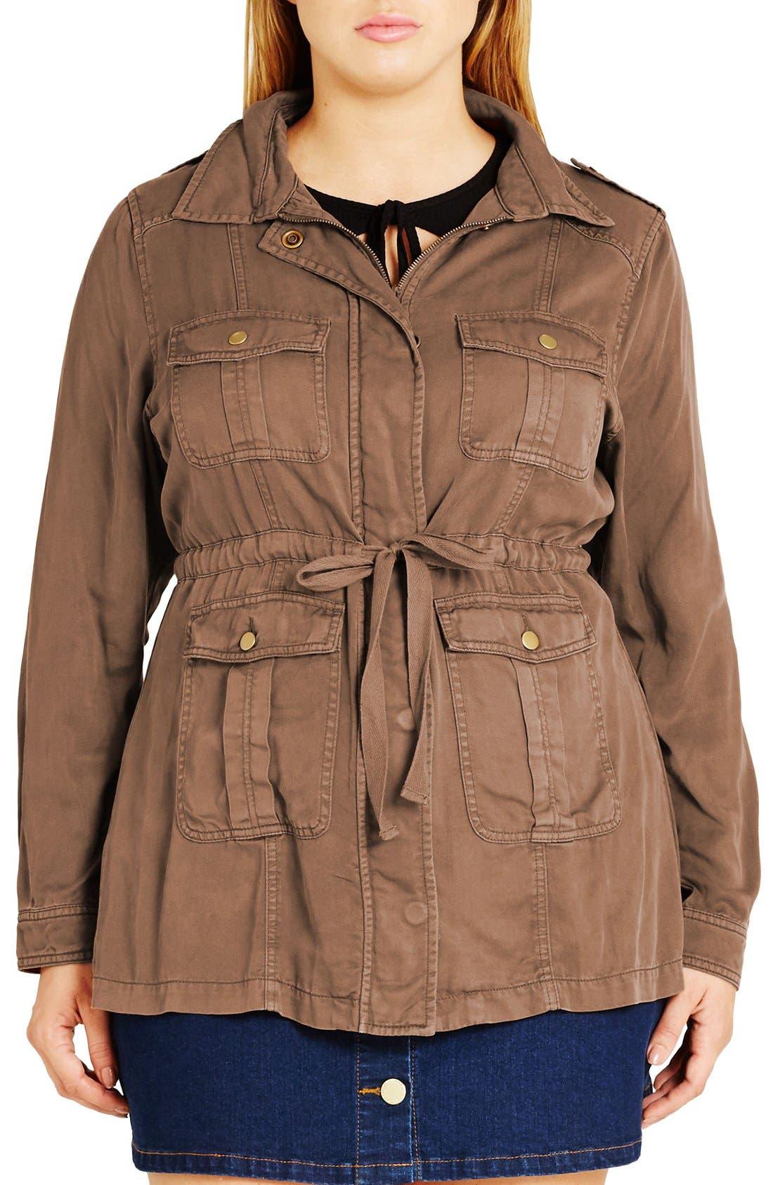 Alternate Image 1 Selected - City Chic 'Adventure' Utility Jacket (Plus Size)