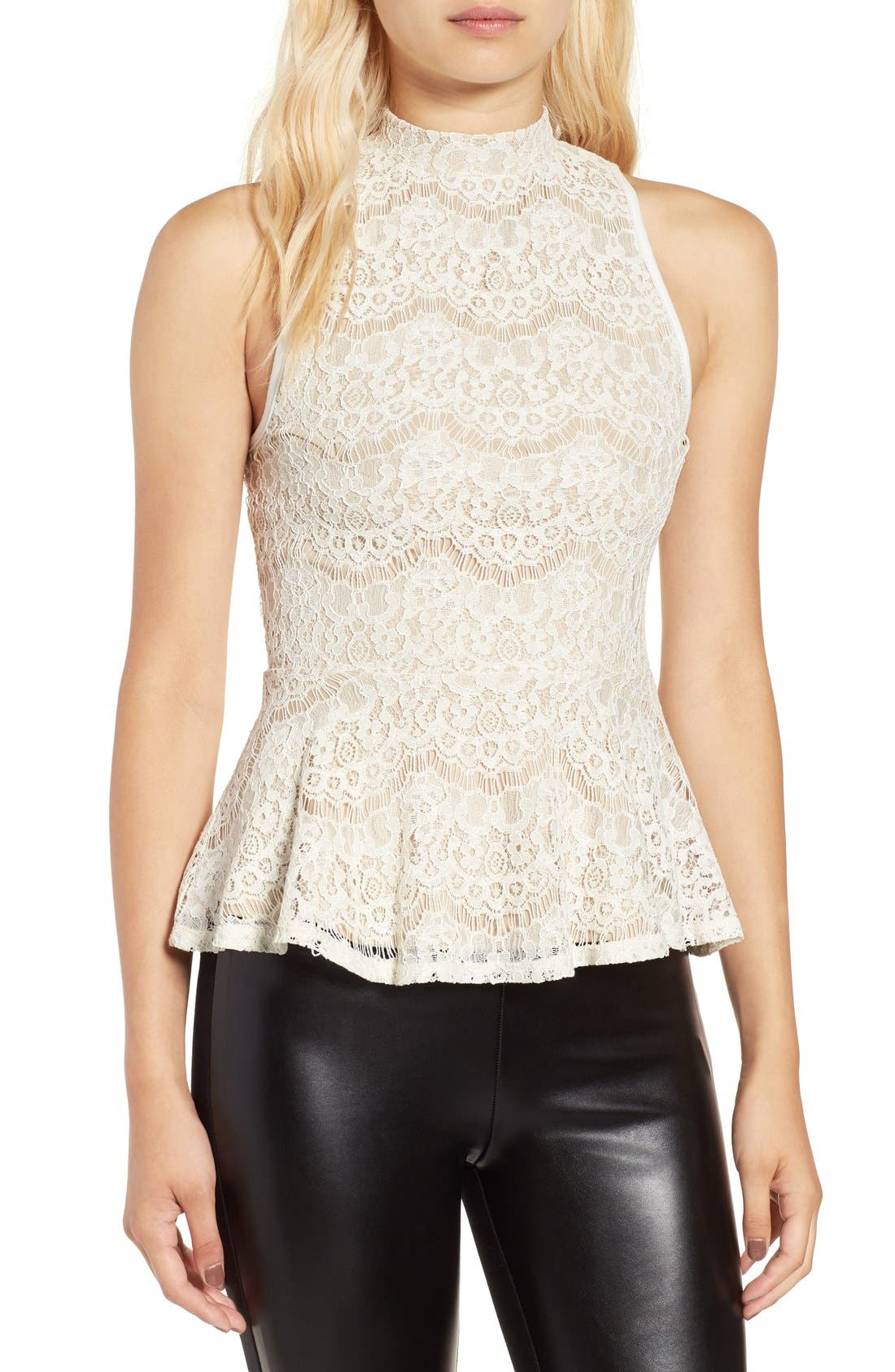 Alternate Image 1 Selected - Fire Lace Peplum Tank