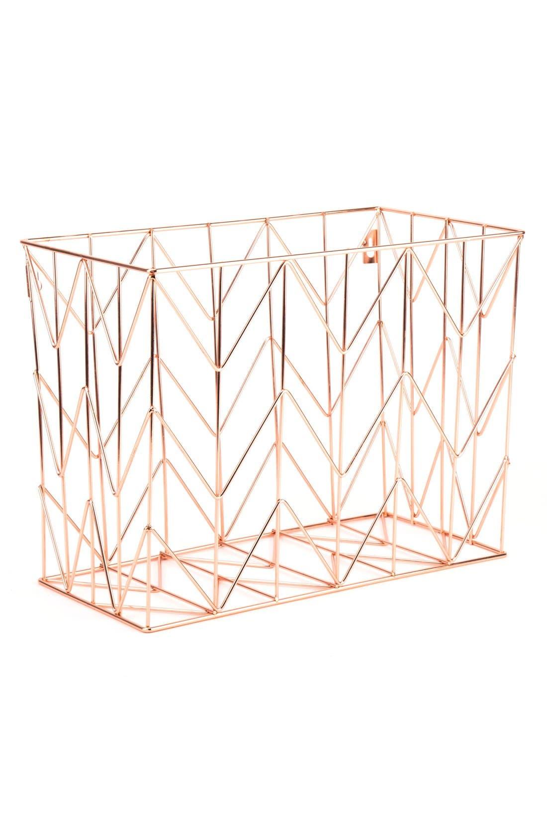 Alternate Image 2  - U Brands Rose Goldtone Hanging File Basket