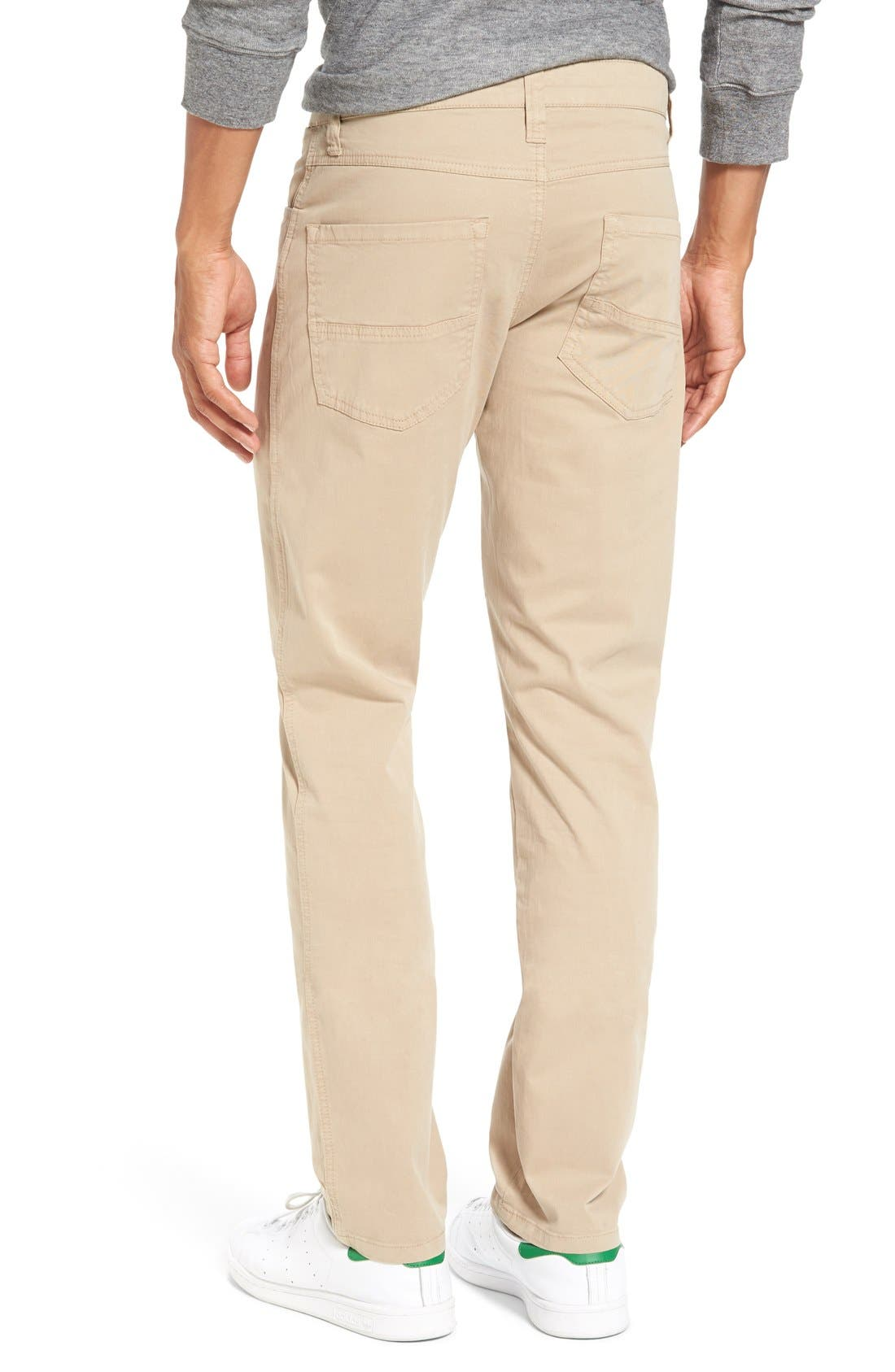 'Sunny' Slim Fit Stretch Twill Pants,                             Alternate thumbnail 2, color,                             Khaki