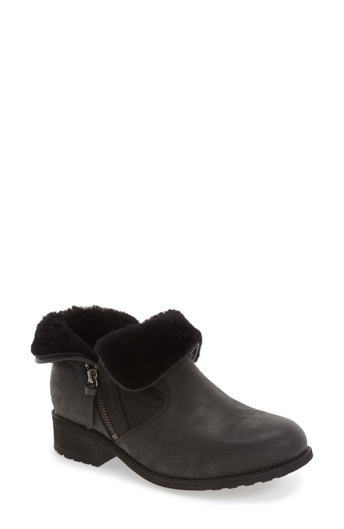 Lavelle Boot,                             Main thumbnail 1, color,                             Black Leather