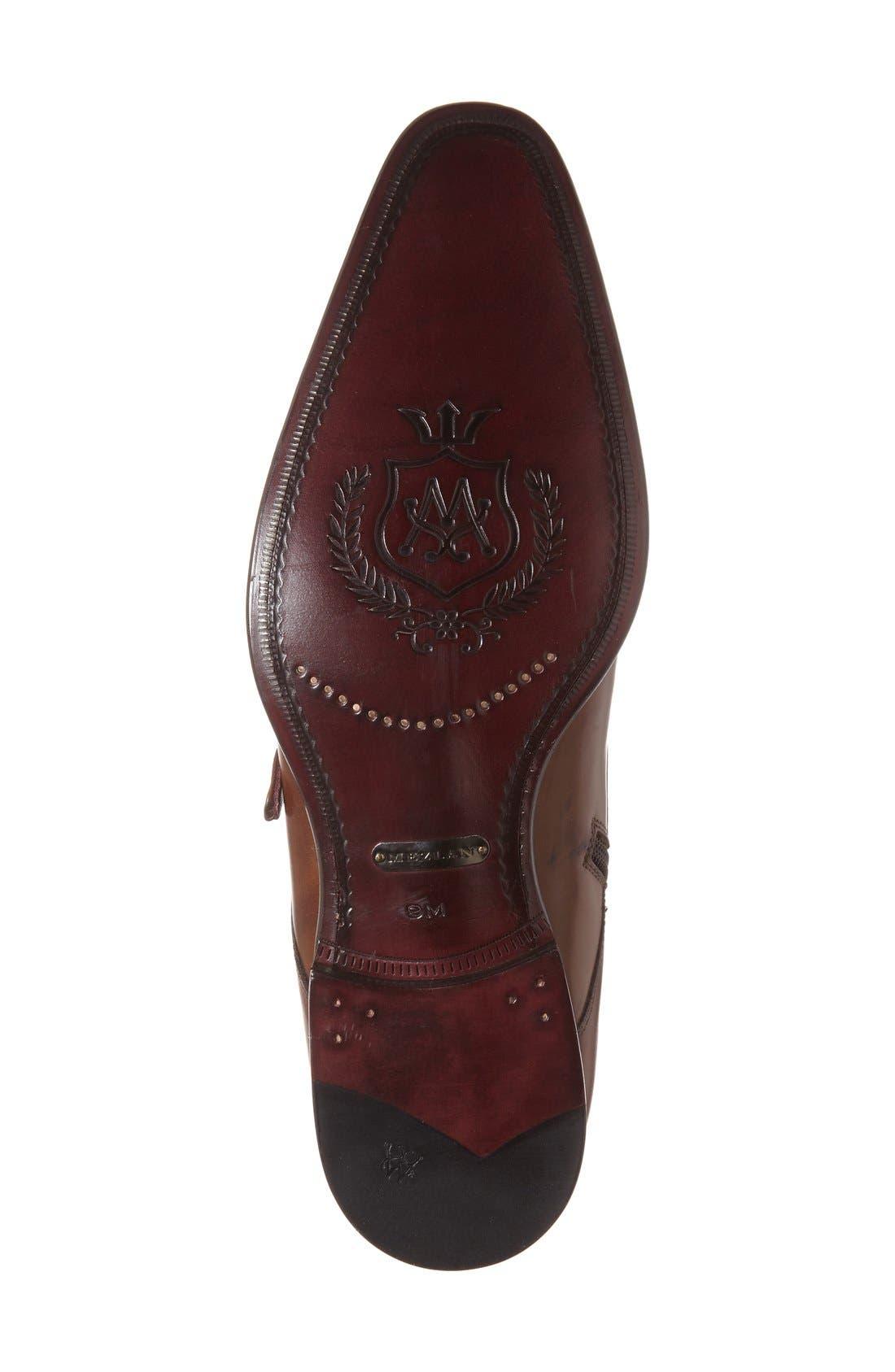 'Rocca' Midi Double Monk Strap Boot,                             Alternate thumbnail 4, color,                             Cognac