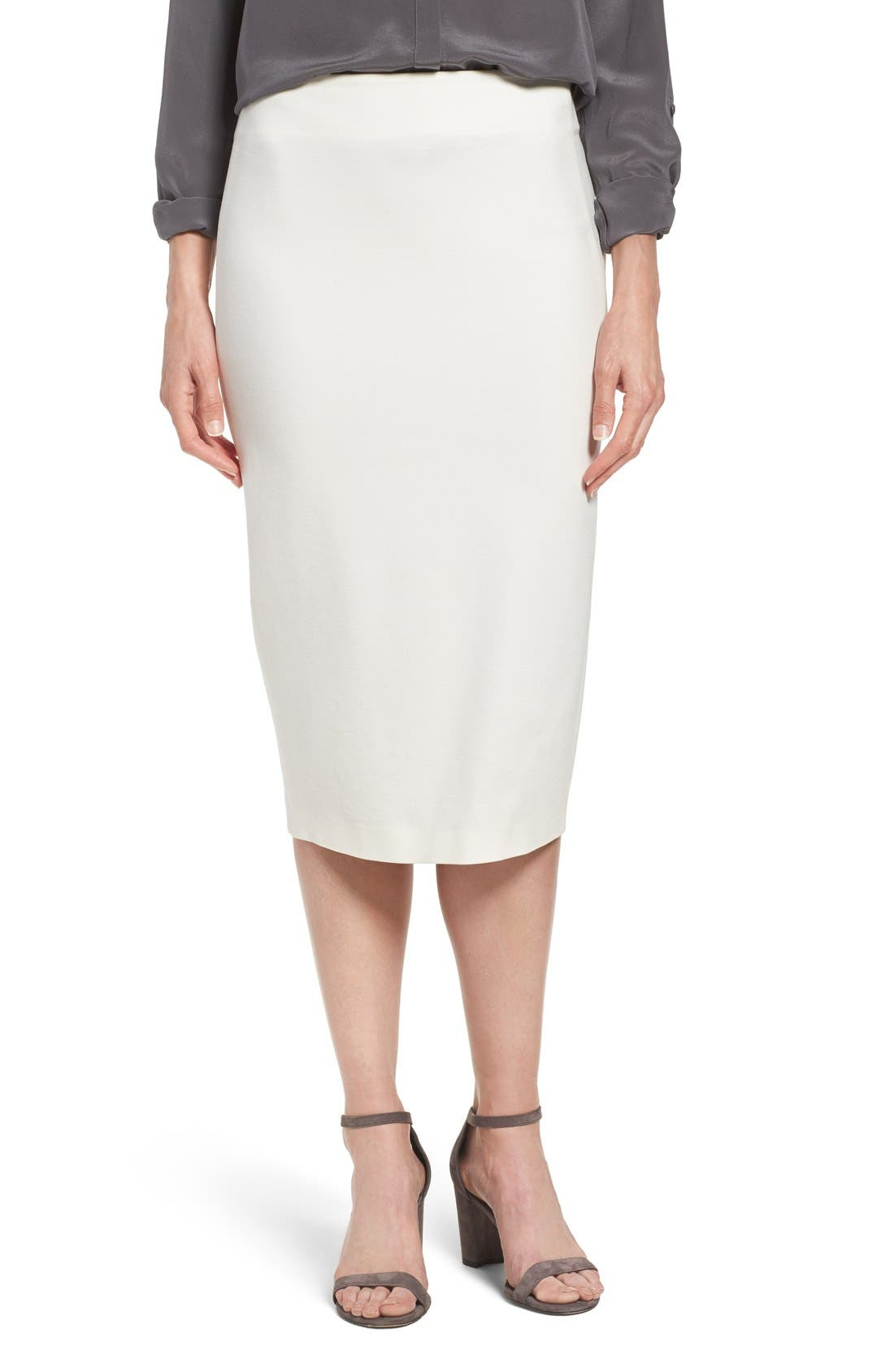 Alternate Image 1 Selected - Vince Camuto Ponte Midi Skirt (Regular & Petite)