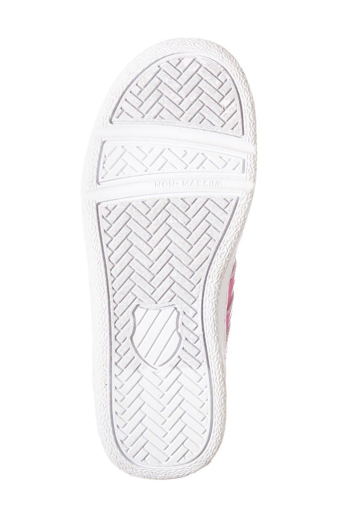 'Classic - Shine On' Sneaker,                             Alternate thumbnail 4, color,                             Pink/ White