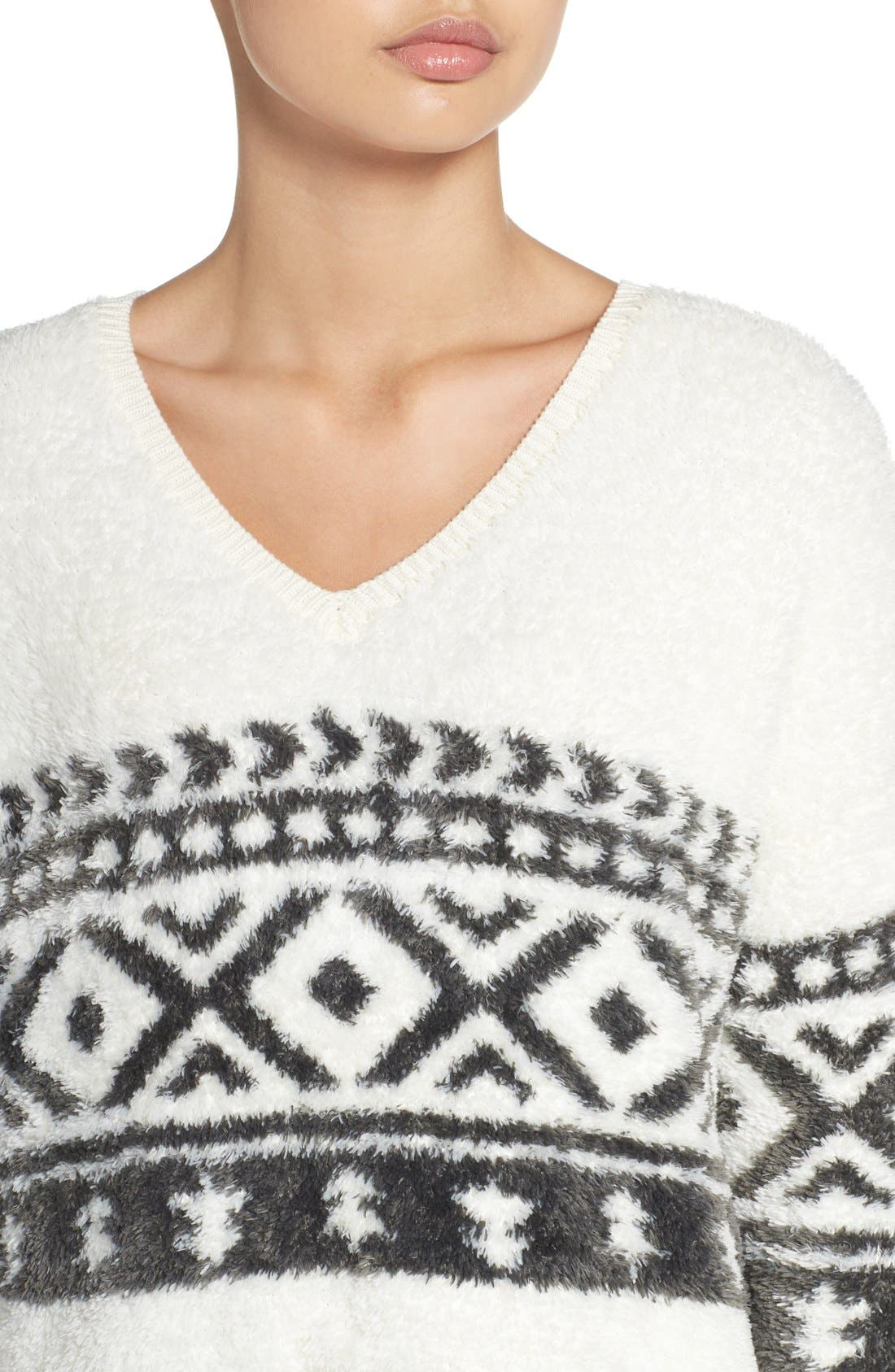 Alternate Image 4  - Make + Model Fuzzy Lounge Sweater