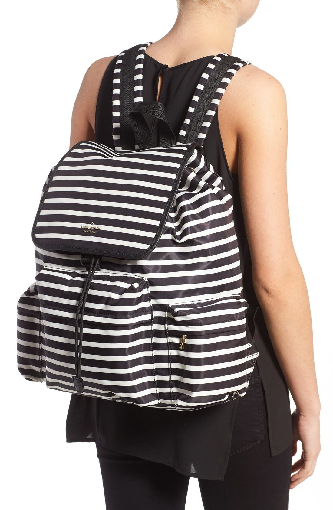 Alternate Image 2  - kate spade new york 'classic - clay' nylon backpack