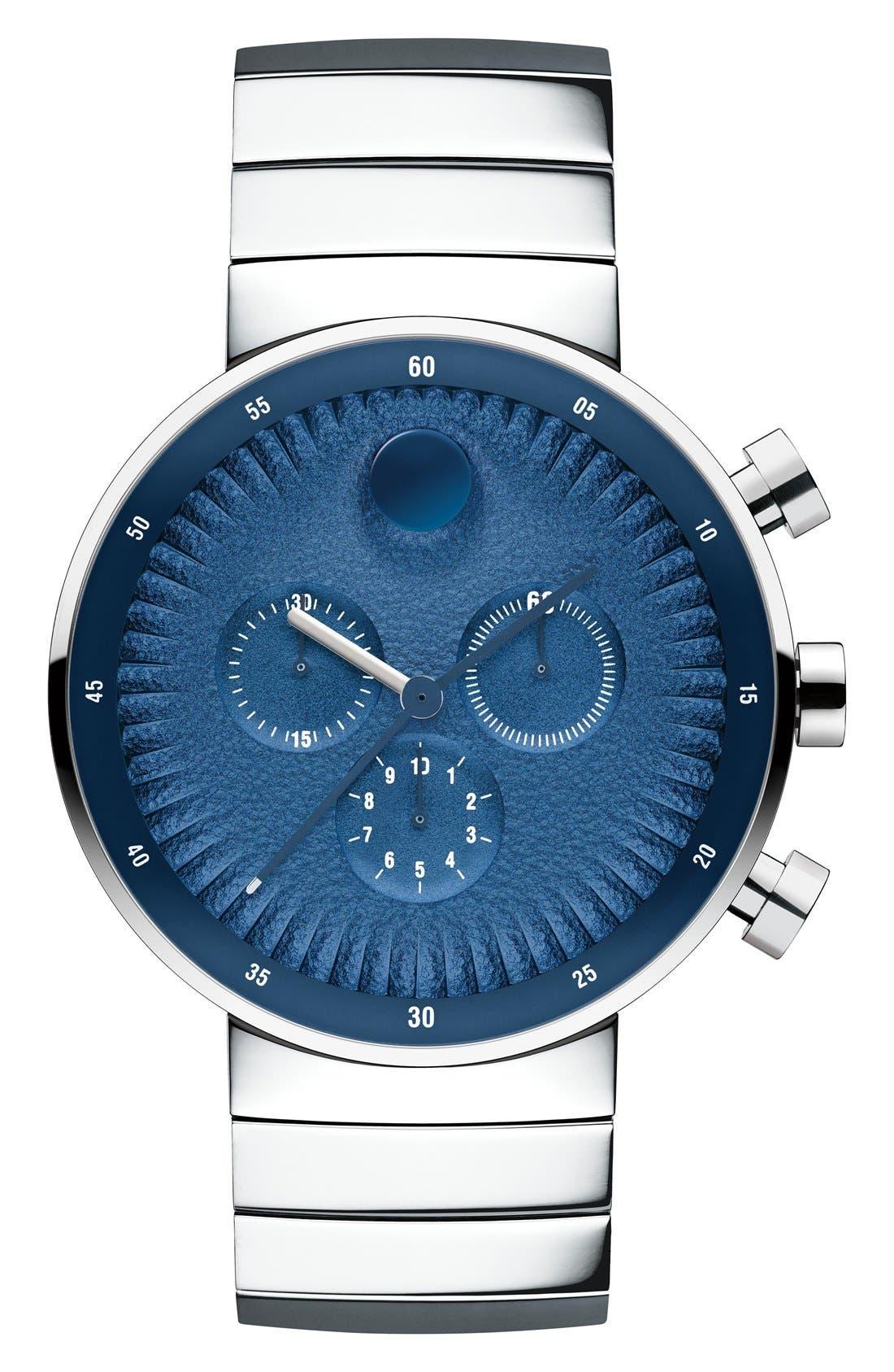 Alternate Image 1 Selected - Movado 'Edge' Chronograph Bracelet Watch, 40mm
