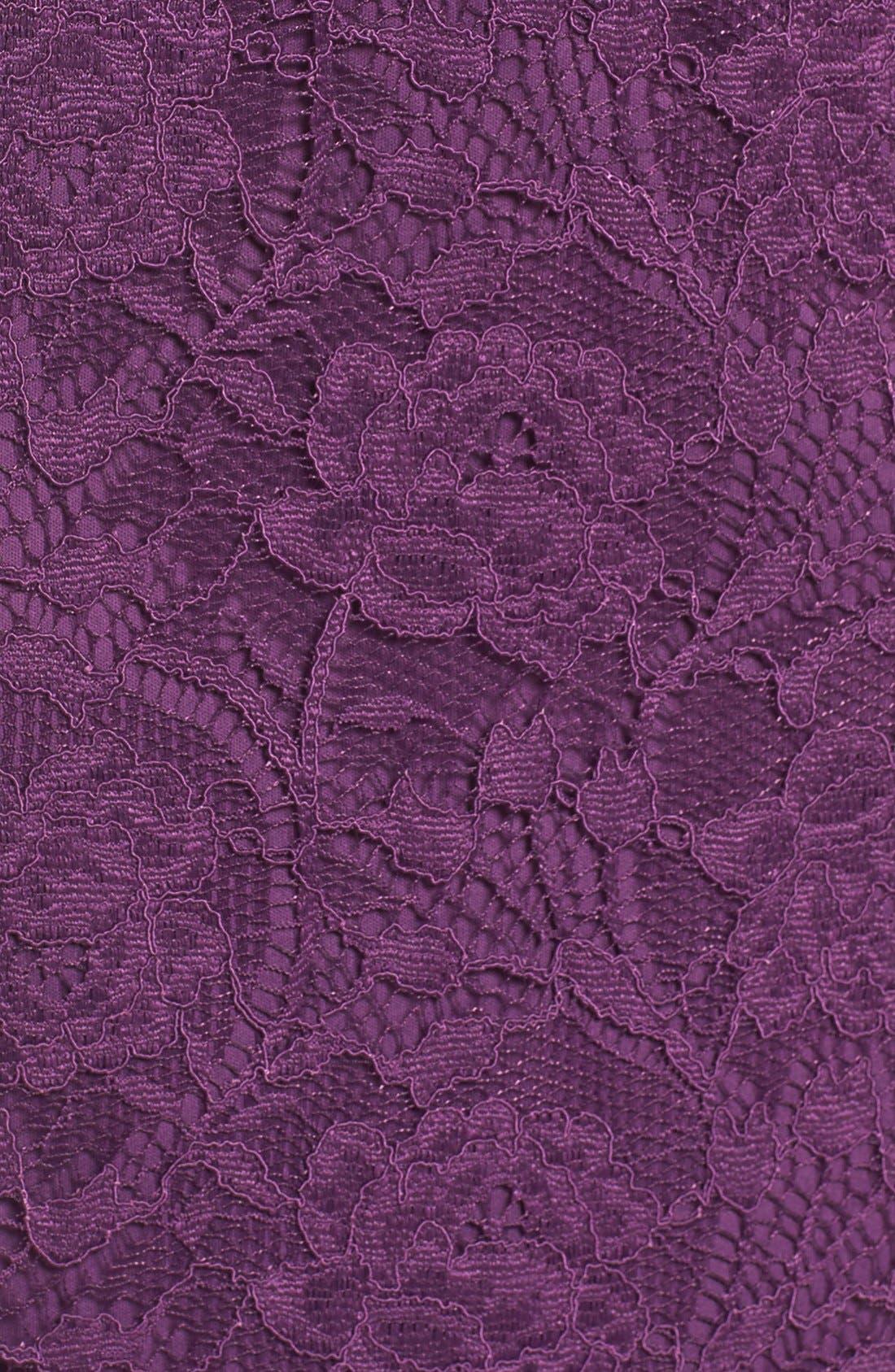Lace Gown,                             Alternate thumbnail 6, color,                             Plum