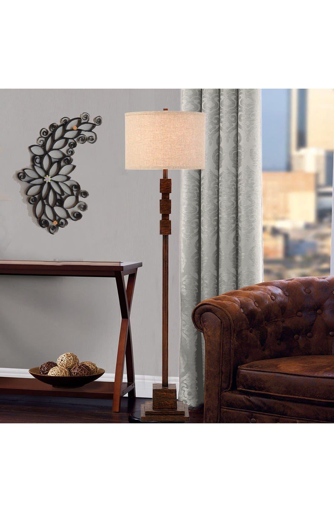 JAlexander Faux Wood Floor Lamp,                             Alternate thumbnail 2, color,                             Brown