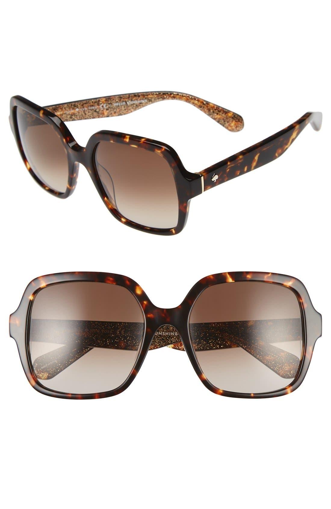 Alternate Image 1 Selected - kate spade new york 'katels' 54mm sunglasses