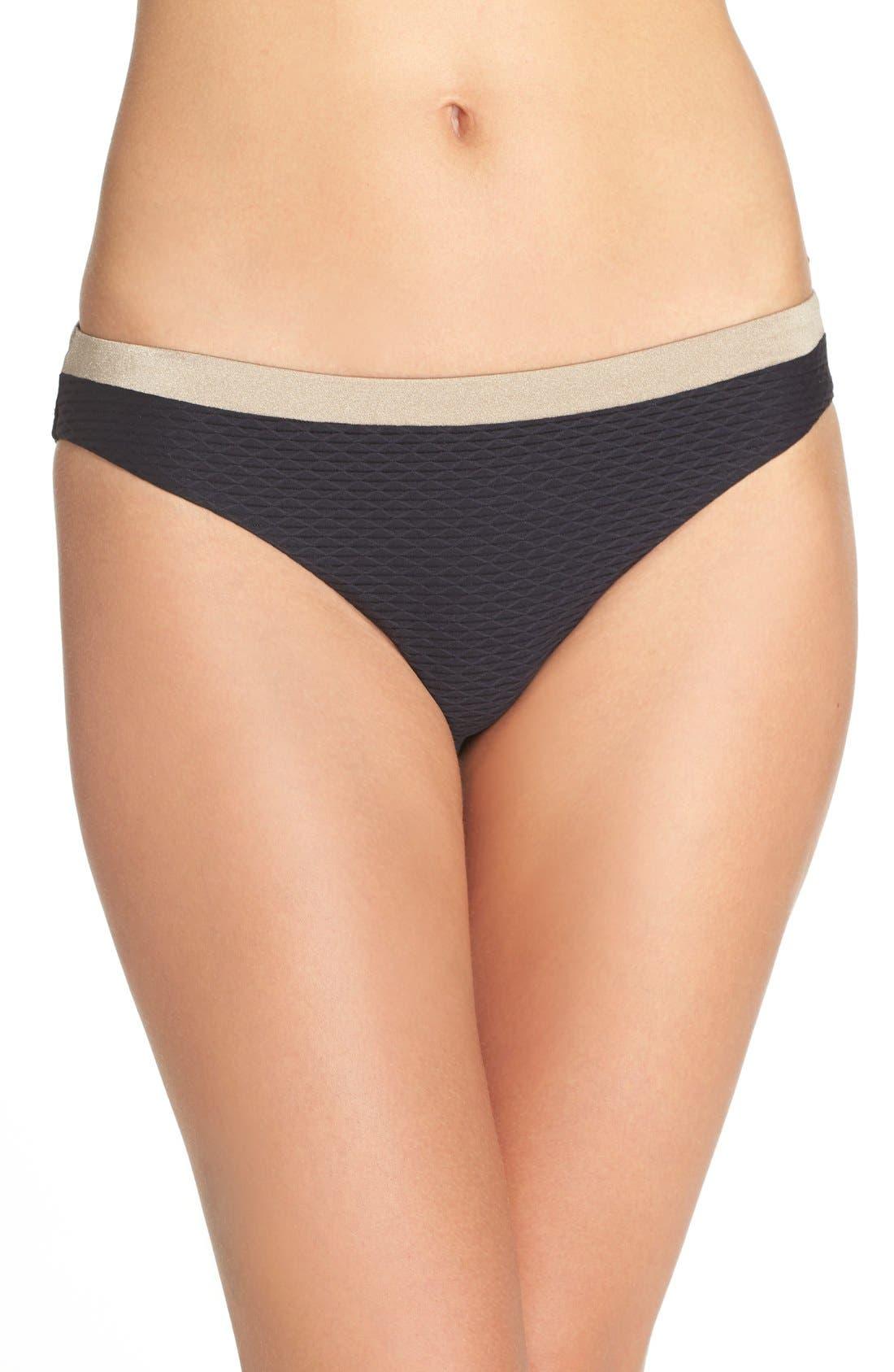'Monaco' Bikini Bottoms,                         Main,                         color, Stardust Black