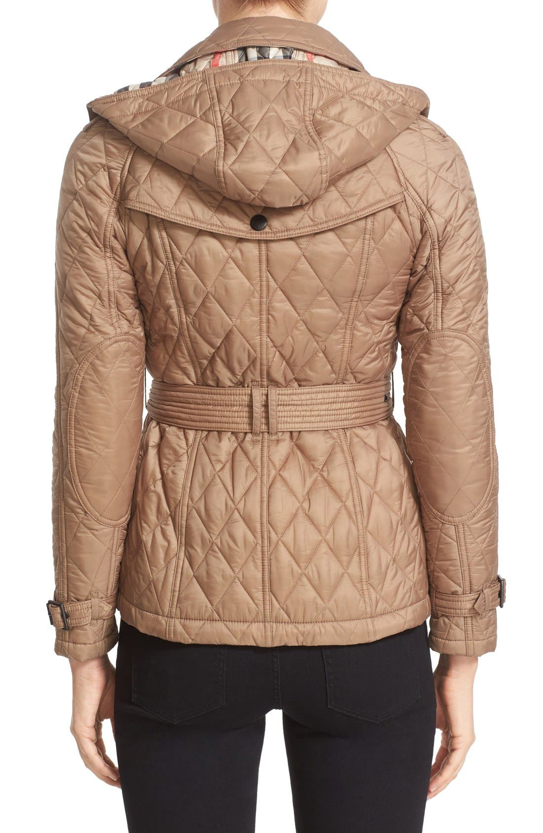 Finsbridge Short Quilted Jacket,                             Alternate thumbnail 2, color,                             Pale Fawn