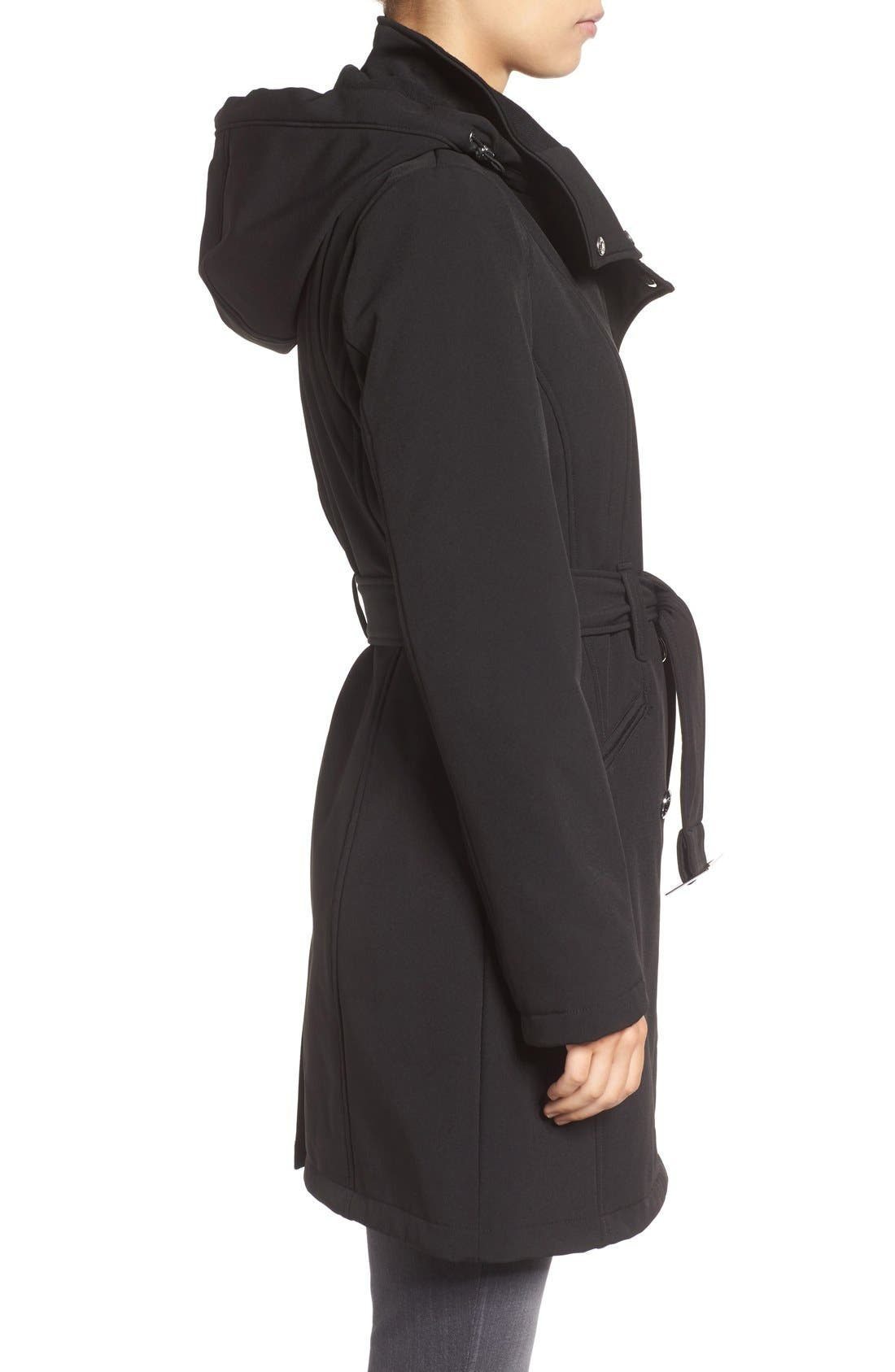 Alternate Image 3  - Calvin Klein Double Breasted Soft Shell Trench Coat