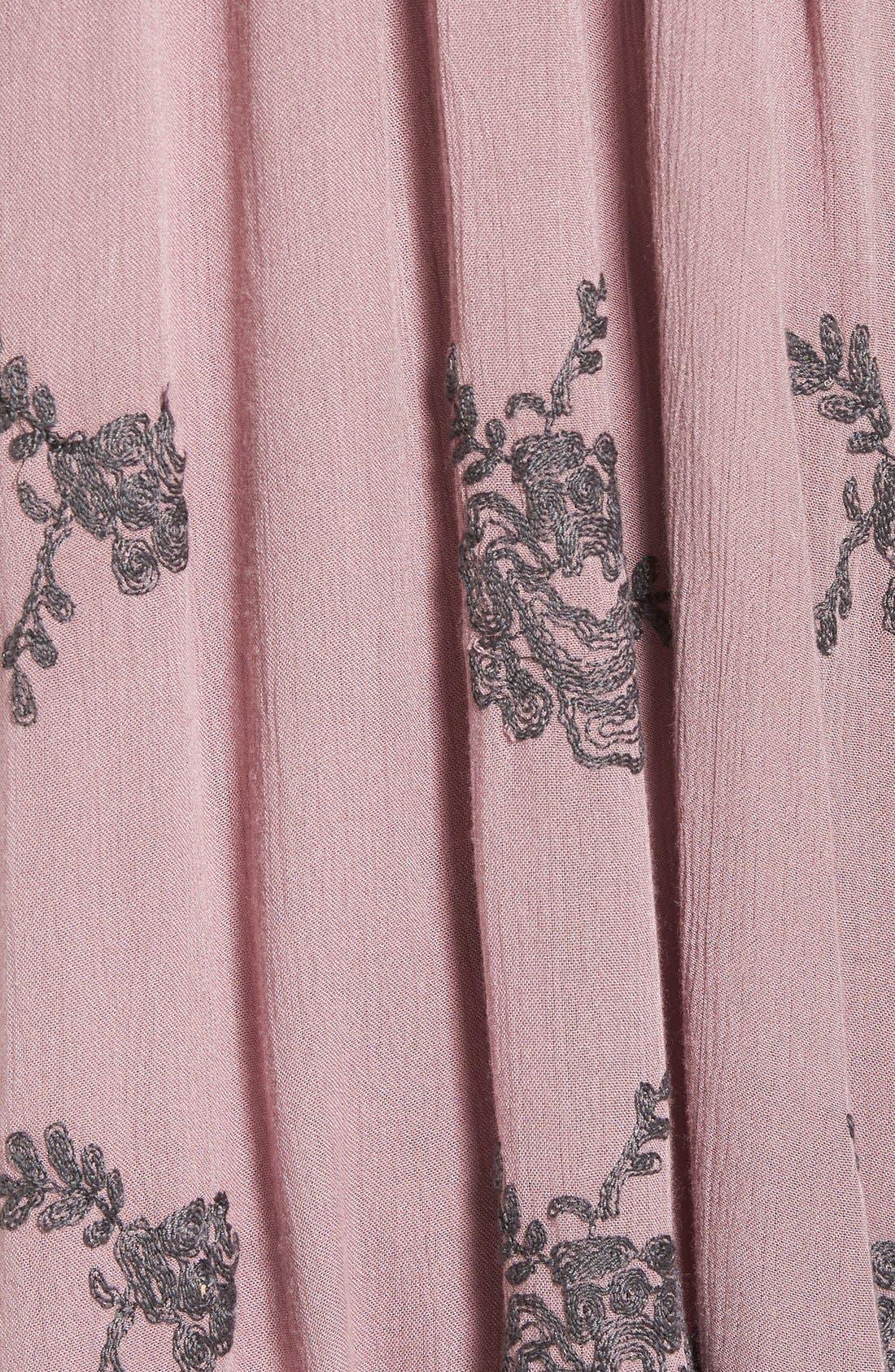Alternate Image 5  - Free People 'Emma's' Embroidered Swing Dress