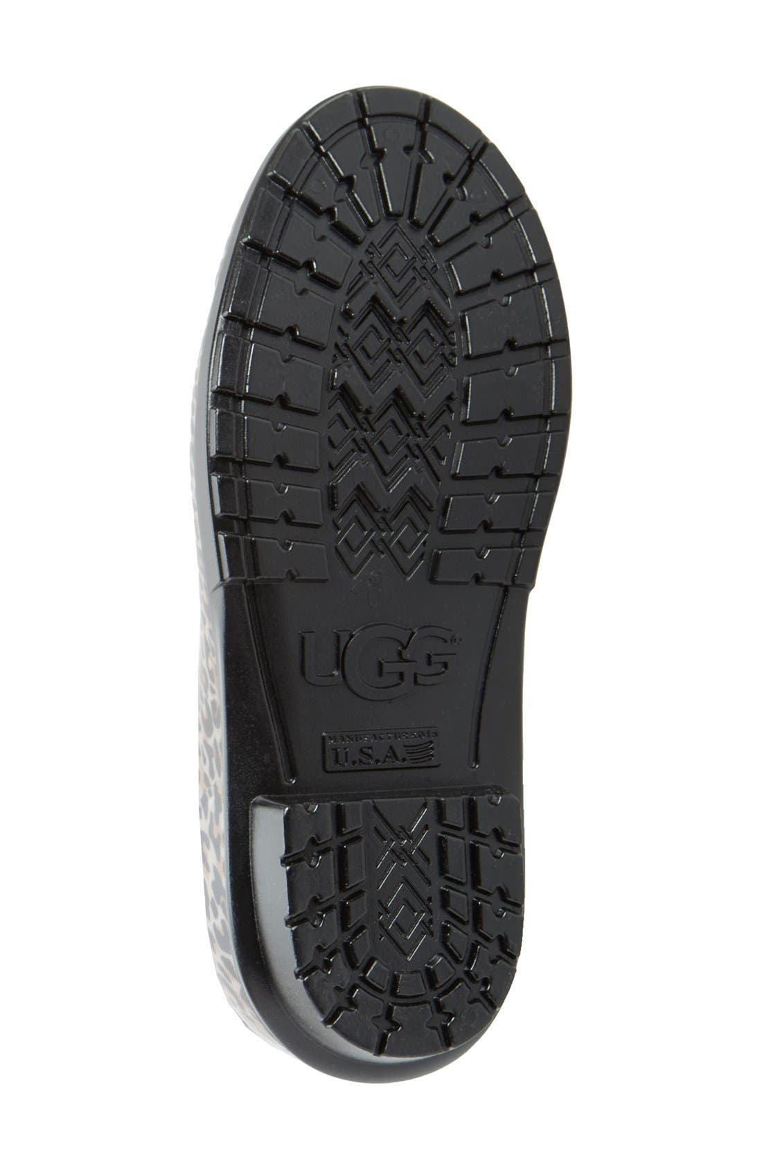 Shaye Rain Boot,                             Alternate thumbnail 4, color,                             Black Leopard