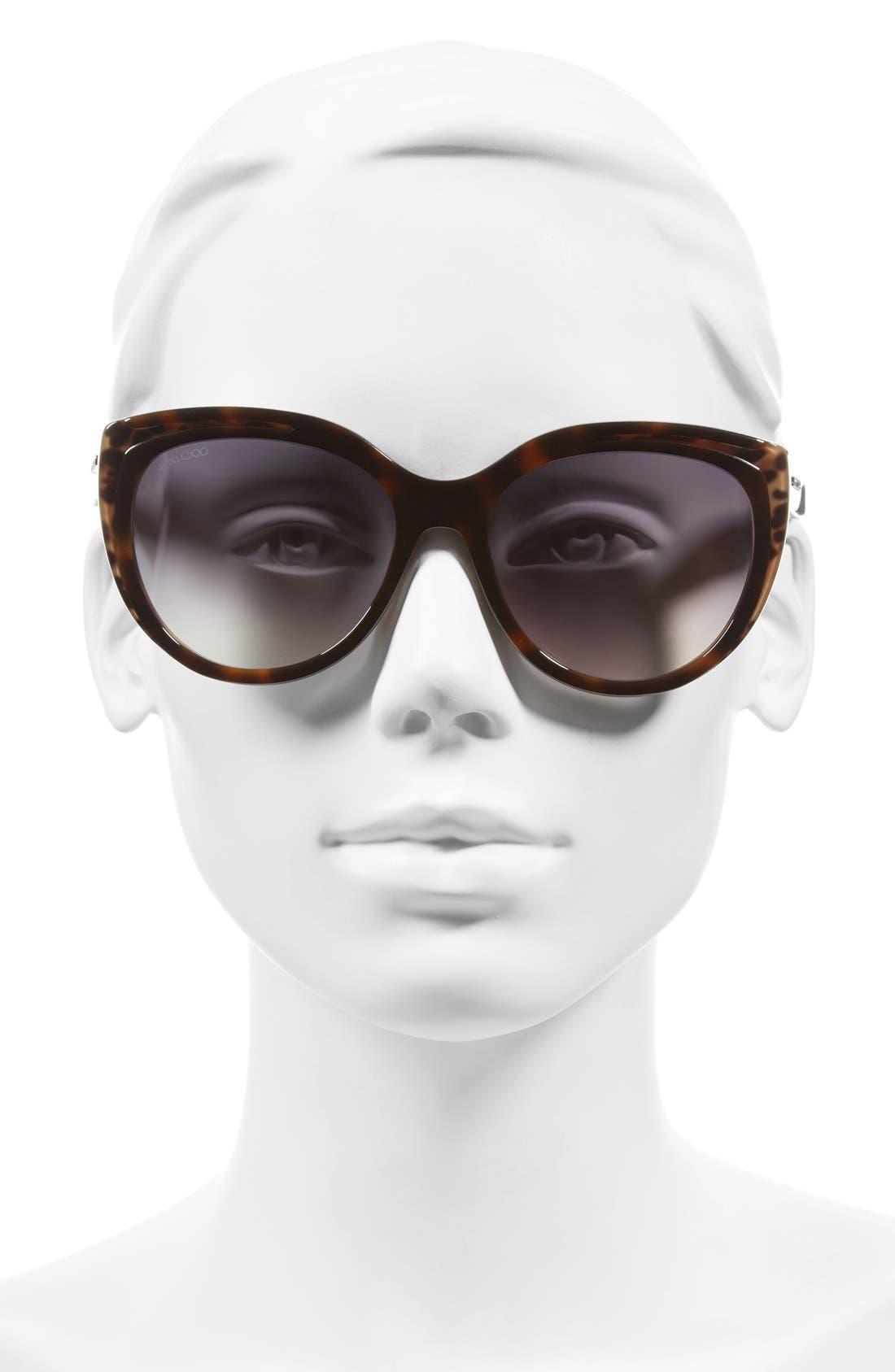 Alternate Image 2  - Jimmy Choo 'Nicky' 56mm Cat Eye Sunglasses