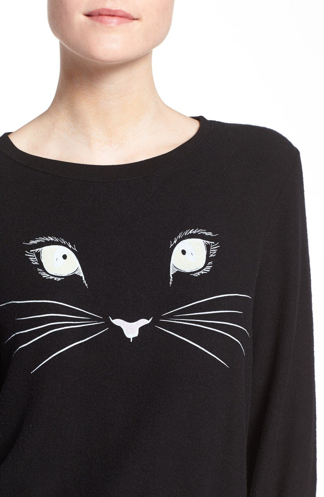 Alternate Image 4  - Wildfox 'Baggy Beach Jumper - Meow' Pullover