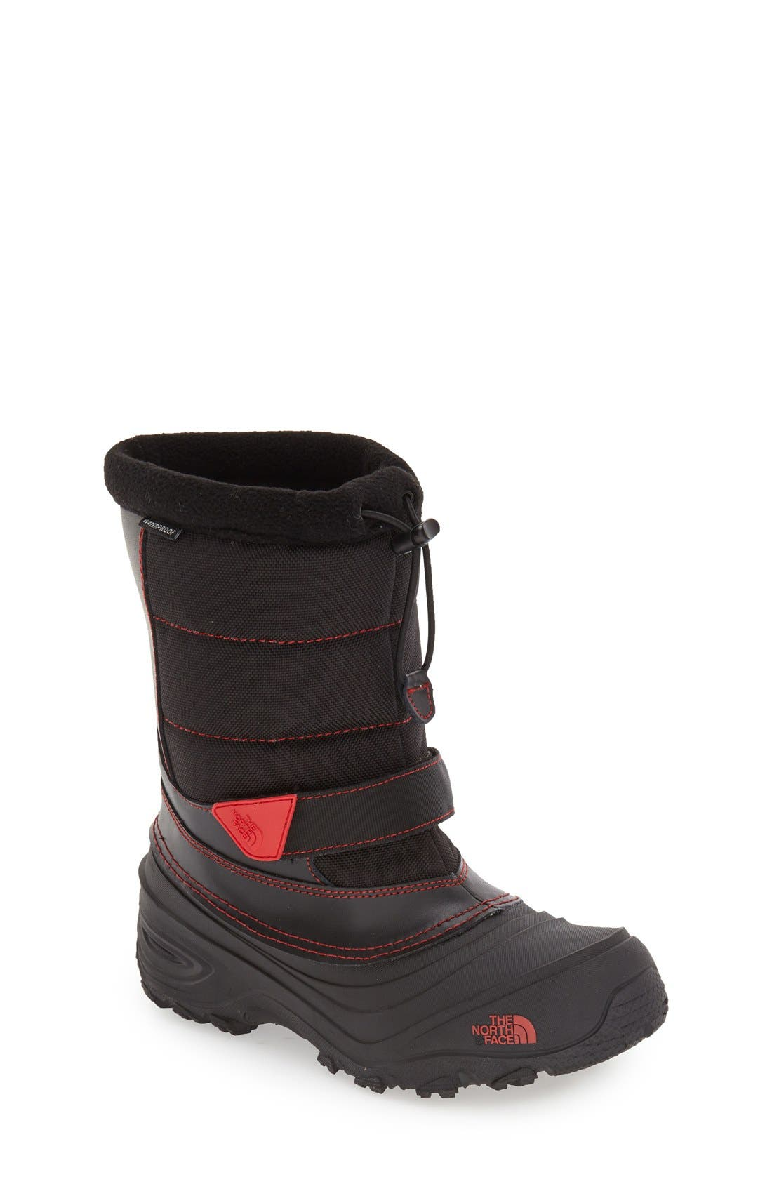 'Alpenglow Extreme II' Waterproof Snow Boot,                             Main thumbnail 1, color,                             Black/ Red