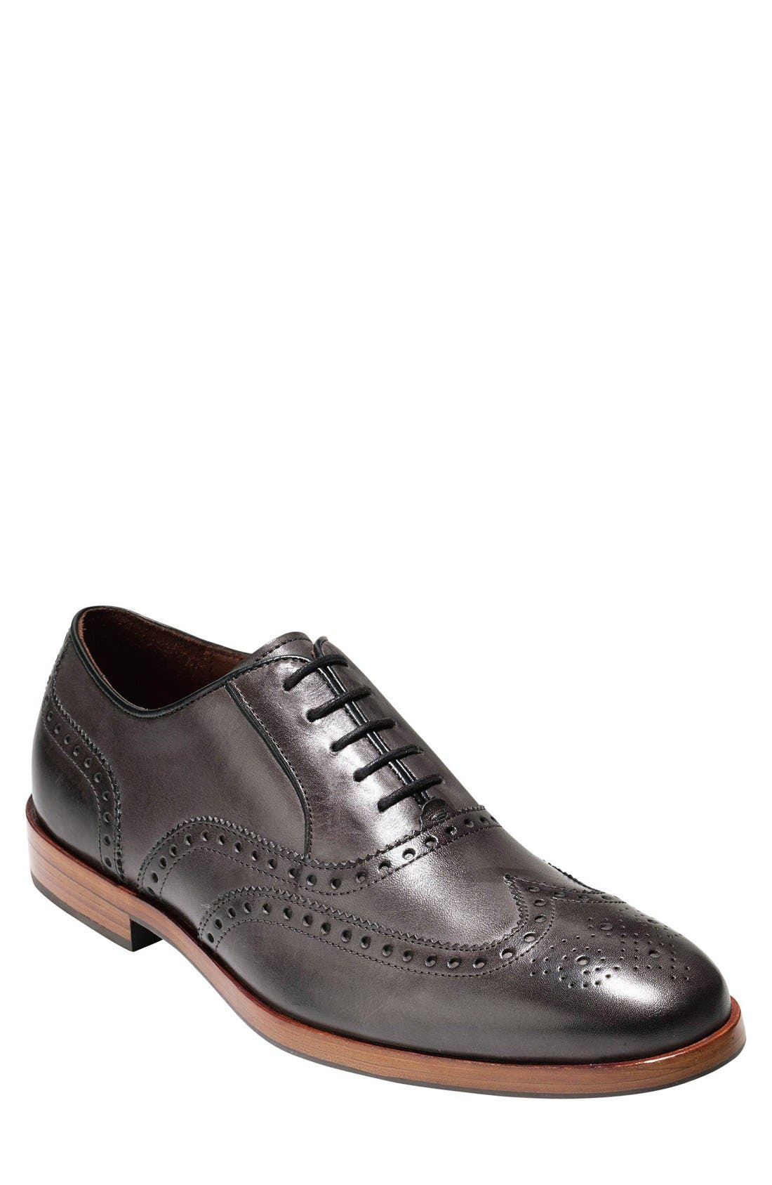 Hamilton Wingtip,                             Main thumbnail 1, color,                             Dark Grey