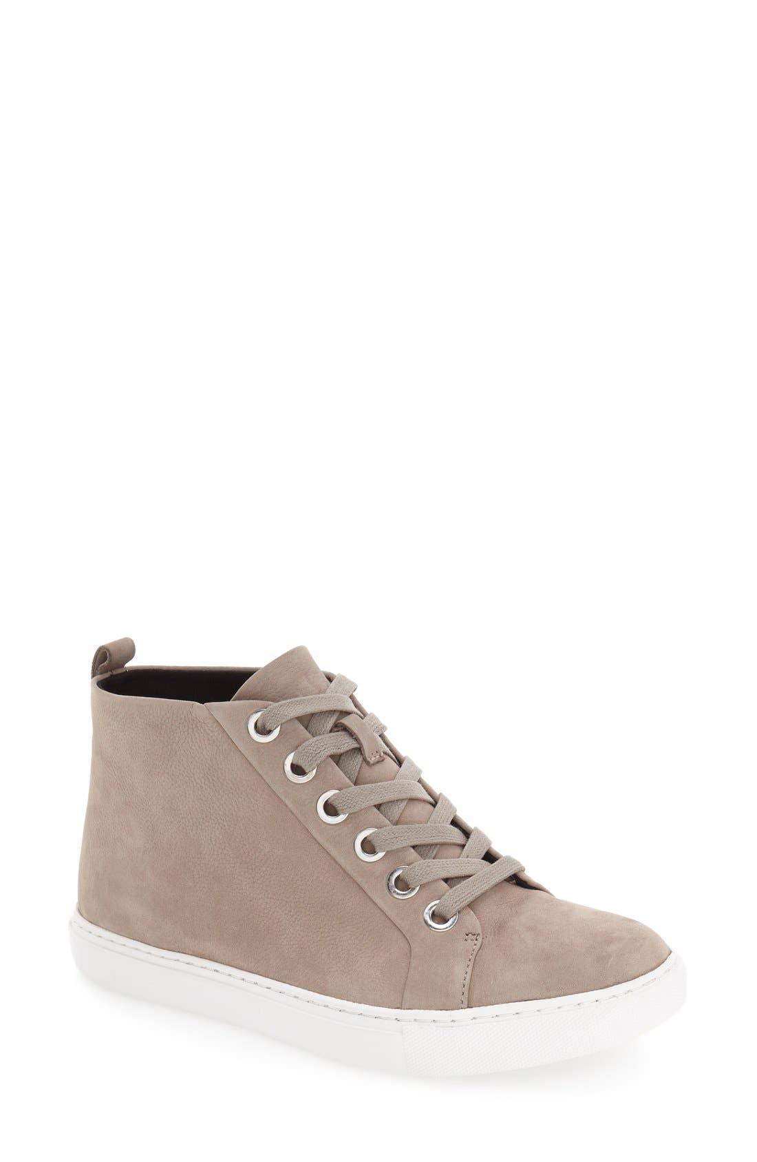 'Kaleb' High Top Sneaker,                             Main thumbnail 1, color,                             Cloud Nubuck Leather