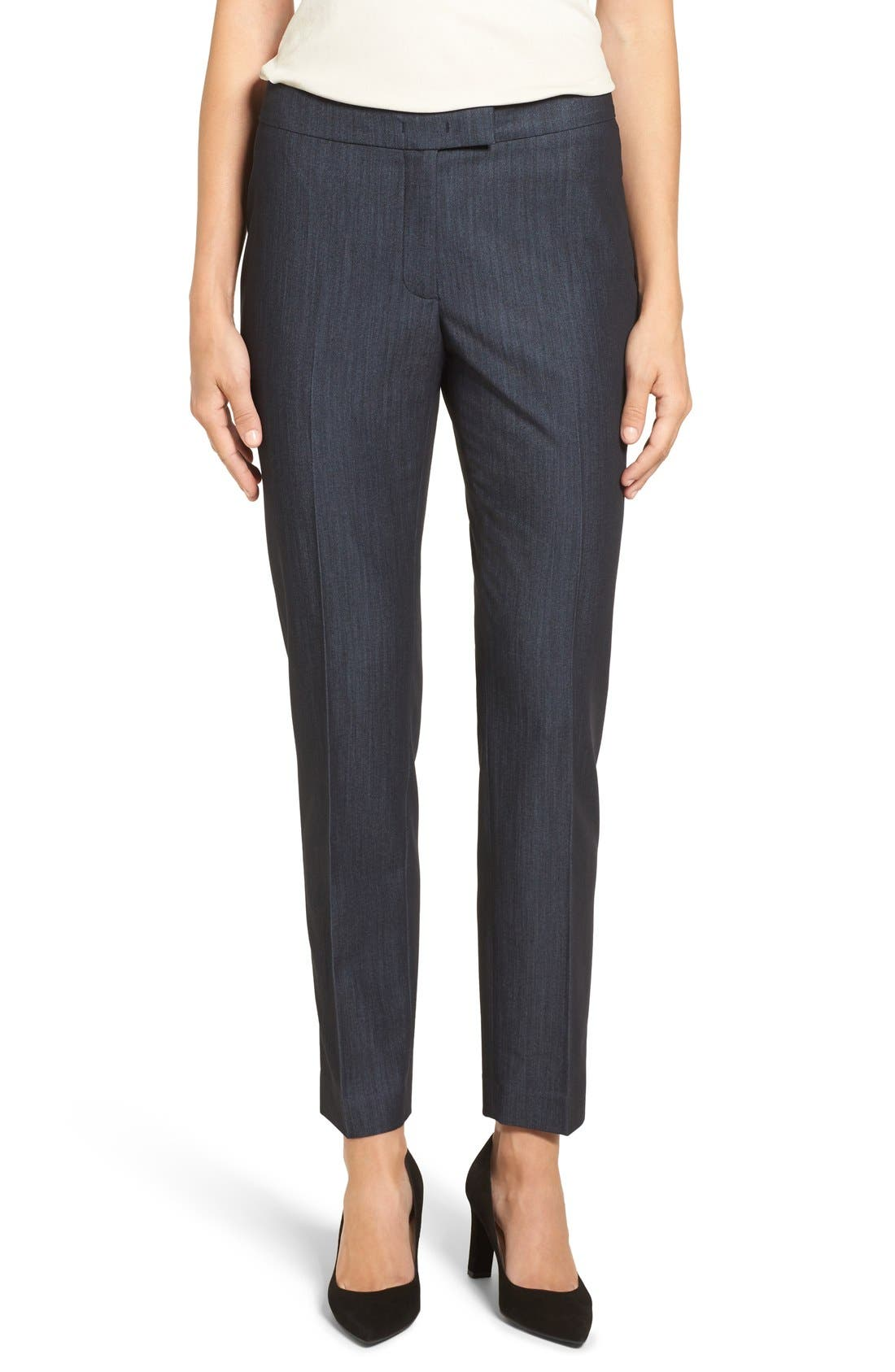 Alternate Image 1 Selected - Anne Klein Slim Stretch Denim Suit Pants
