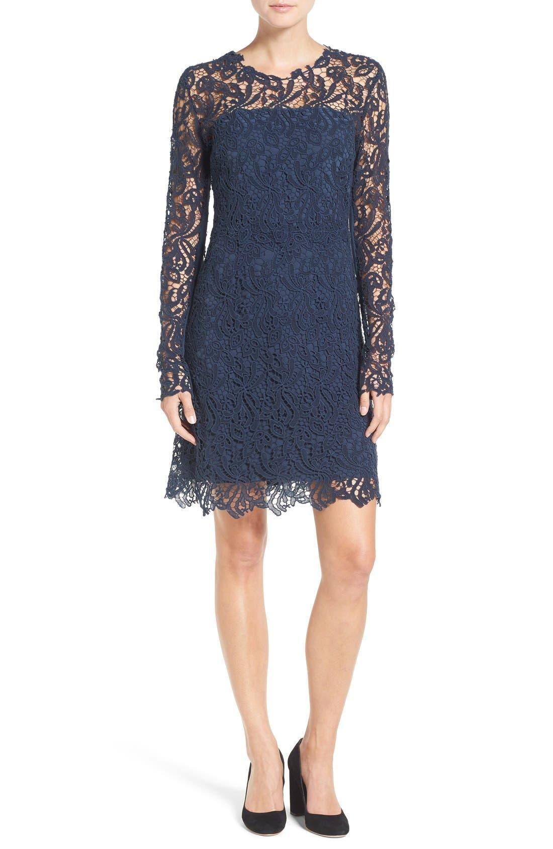 Long Sleeve Lace Sheath Dress