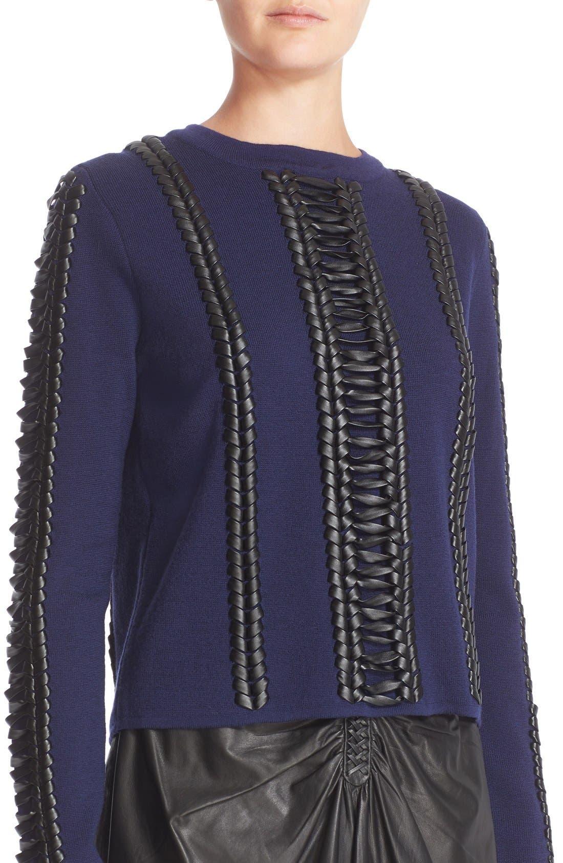 Alternate Image 6  - Altuzarra Deals Lace Detail Wool Sweater