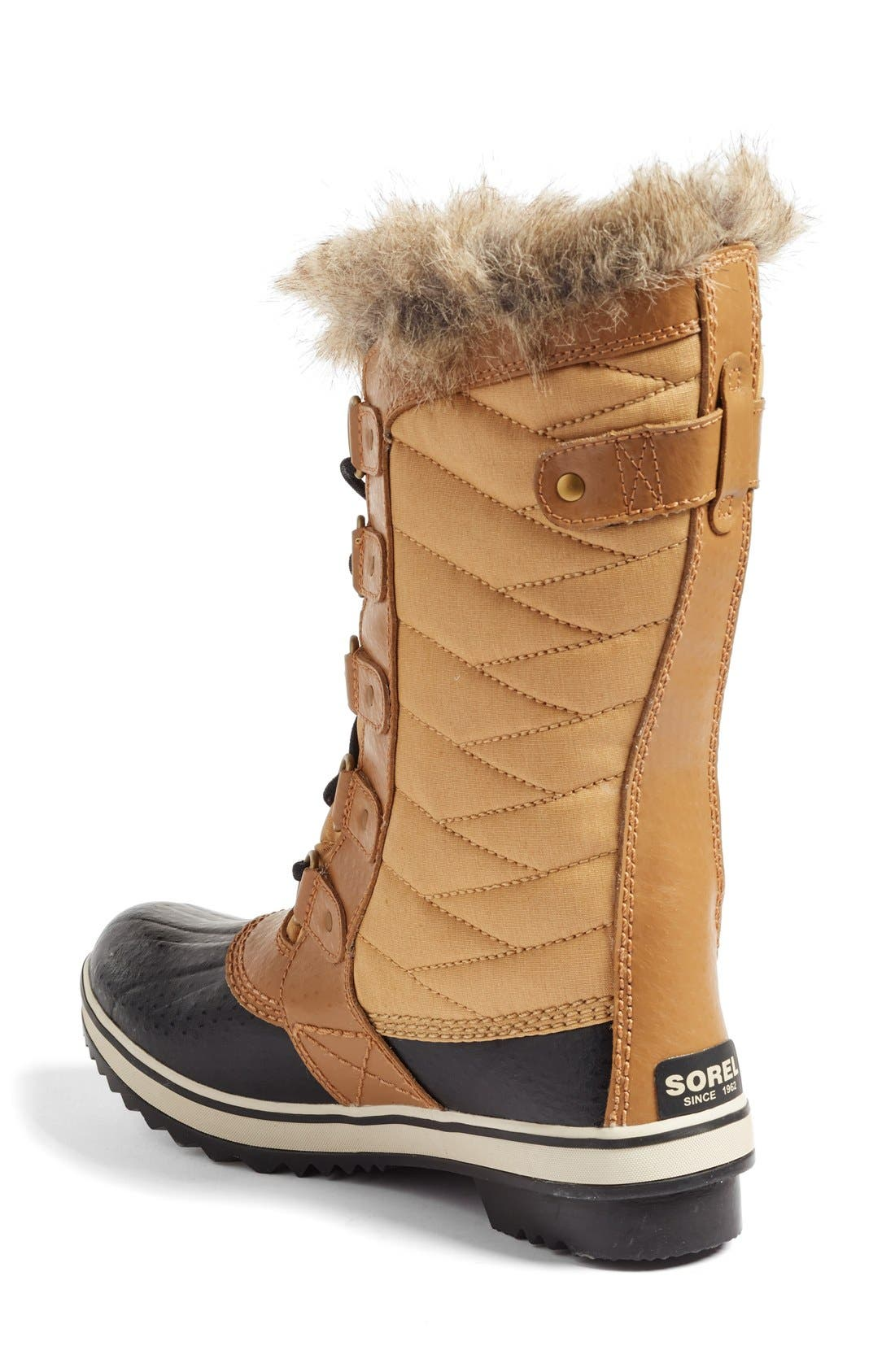 'Tofino II' Faux Fur Lined Waterproof Boot,                             Alternate thumbnail 2, color,                             Curry