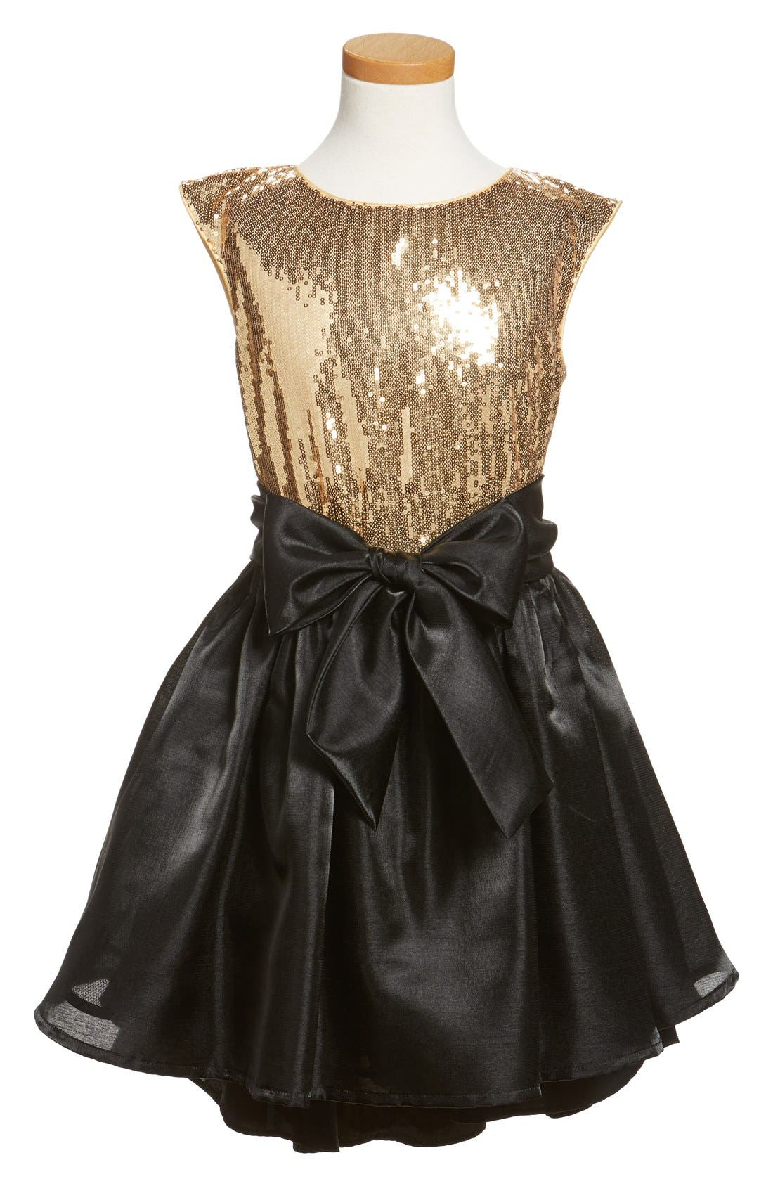 Main Image - Pippa & Julie Sequin High/Low Hem Dress (Big Girls)