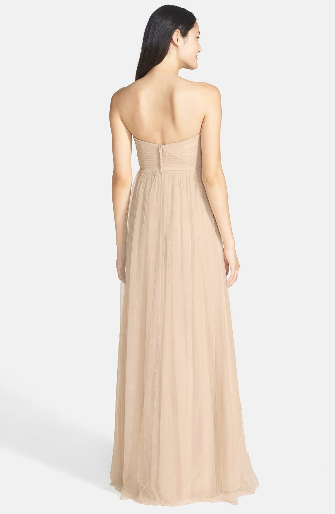 Alternate Image 3  - Jenny Yoo Annabelle Convertible Tulle Column Dress