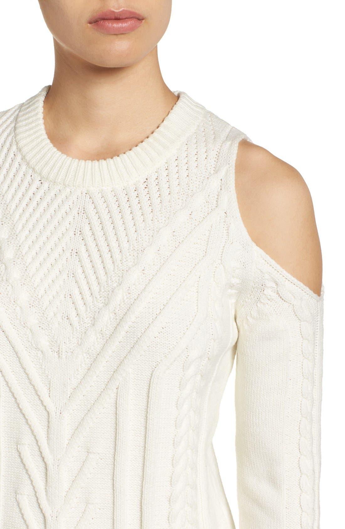 Alternate Image 4  - Vince Camuto Cold Shoulder Sweater (Regular & Petite)