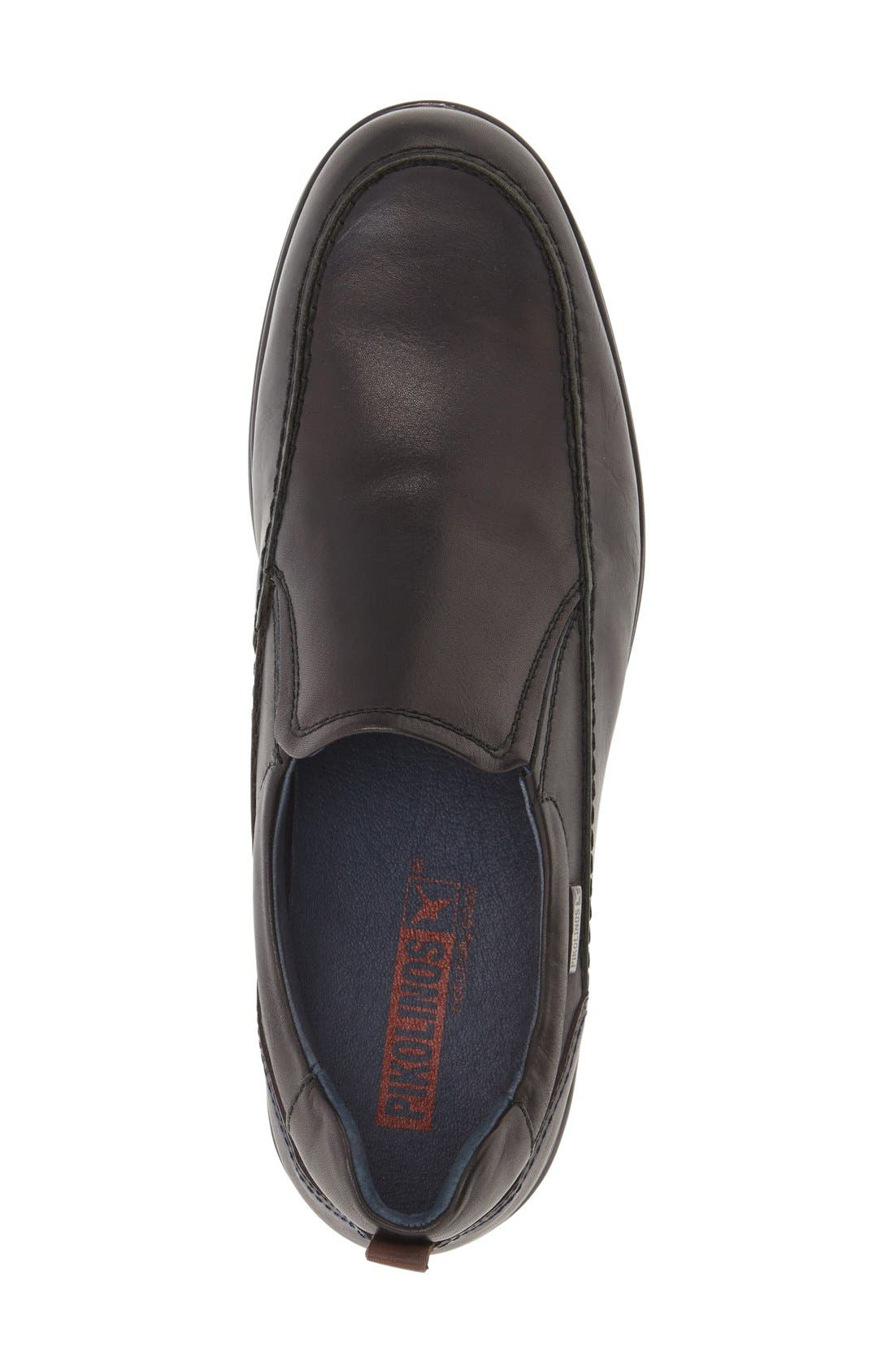 'San Lorenzo' Slip-On,                             Alternate thumbnail 3, color,                             Black Leather