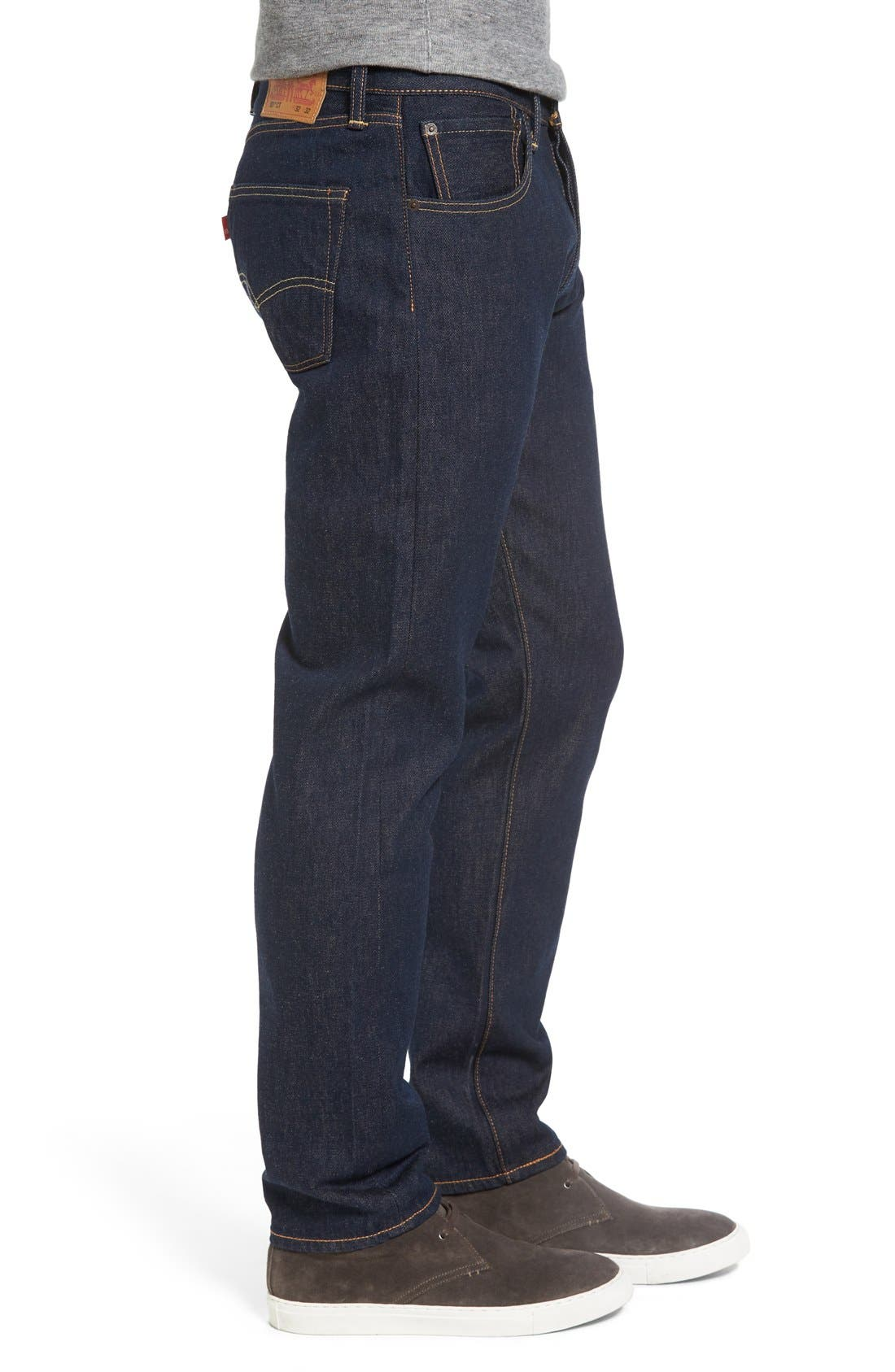 Alternate Image 3  - Levi's® 501® CT Slim Fit Jeans (Noten) (Regular & Tall)