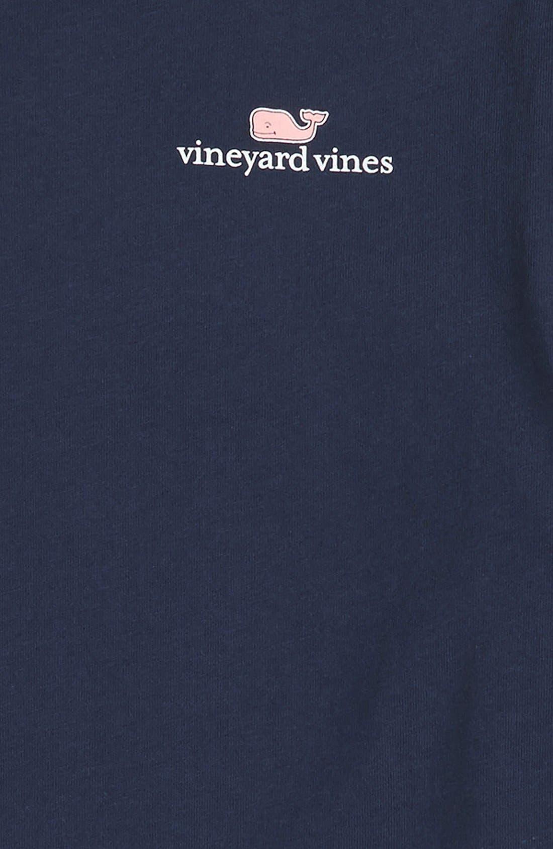 Logo Graphic Long Sleeve T-Shirt,                             Alternate thumbnail 3, color,                             Blue Blazer