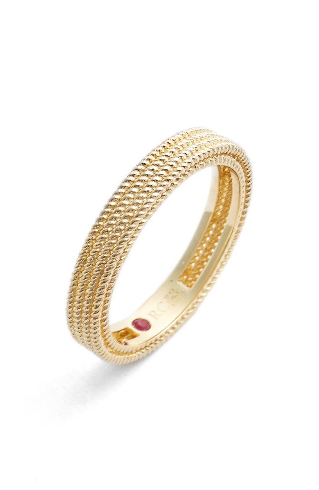 'Symphony - Barocco' Band Ring,                             Main thumbnail 1, color,                             Yellow Gold