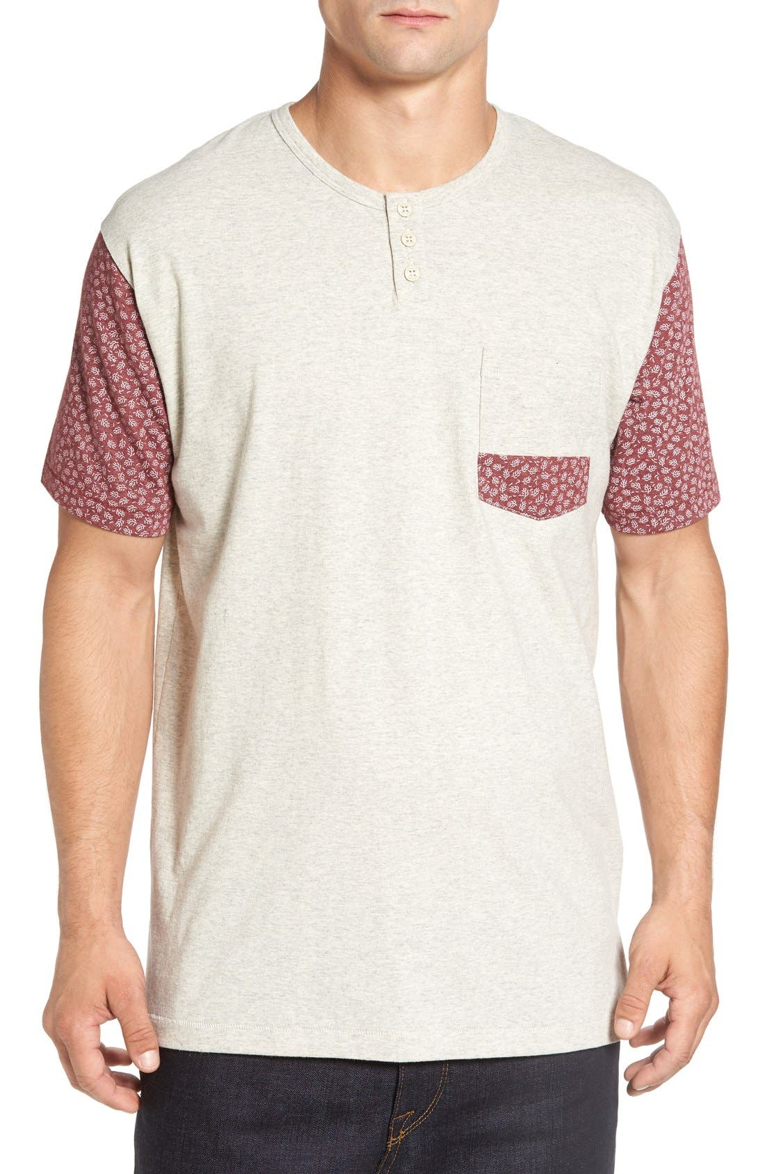 Imperial Motion 'Harper' Short Sleeve Pocket Henley T-Shirt