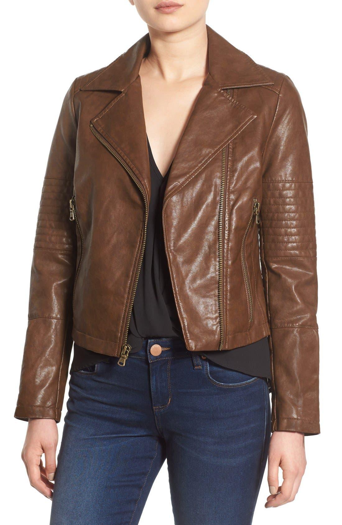 Alternate Image 1 Selected - Levi's® Faux Leather Moto Jacket