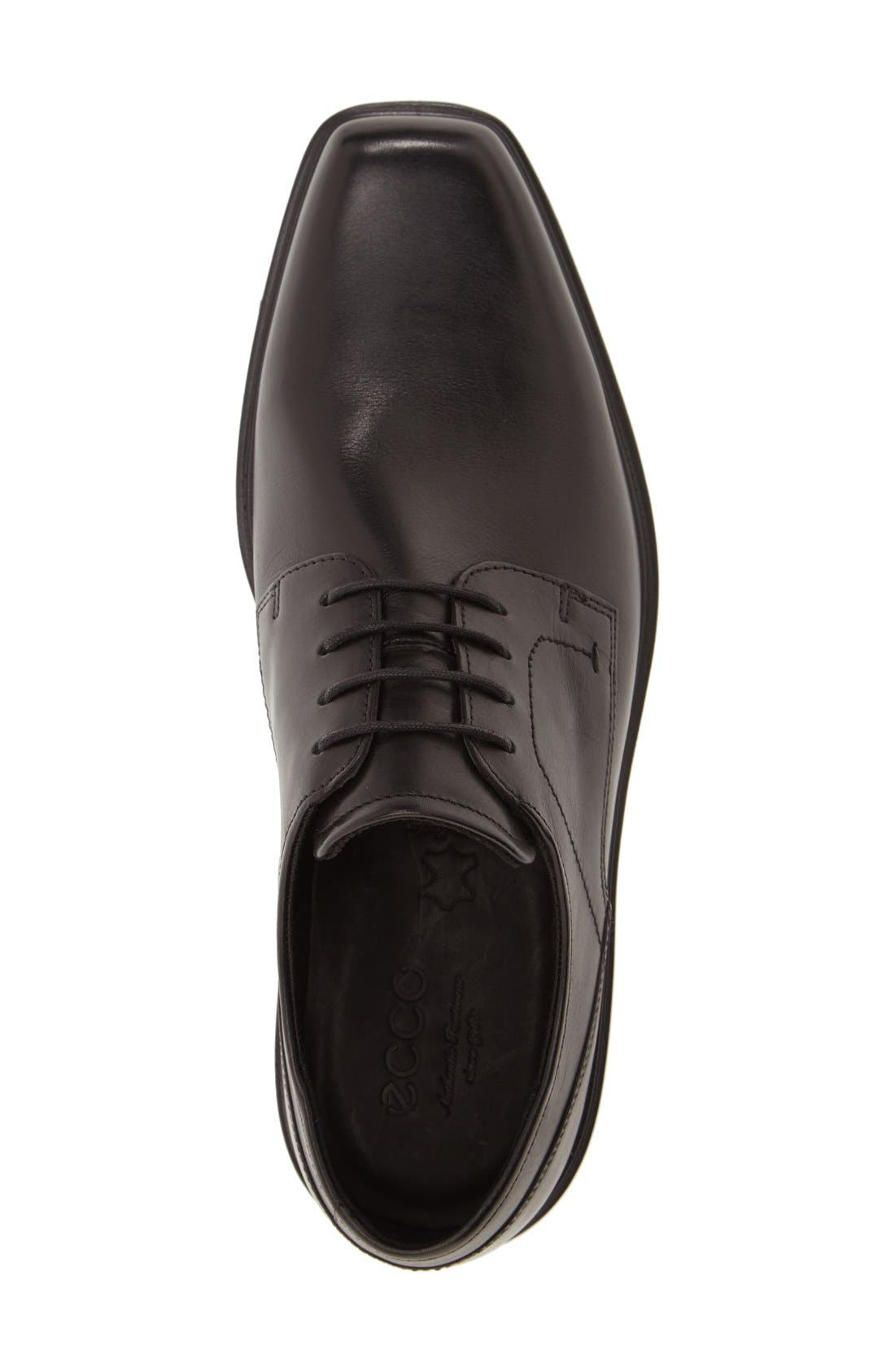 'Johannesburg' Plain Toe Derby,                             Alternate thumbnail 3, color,                             Black Leather