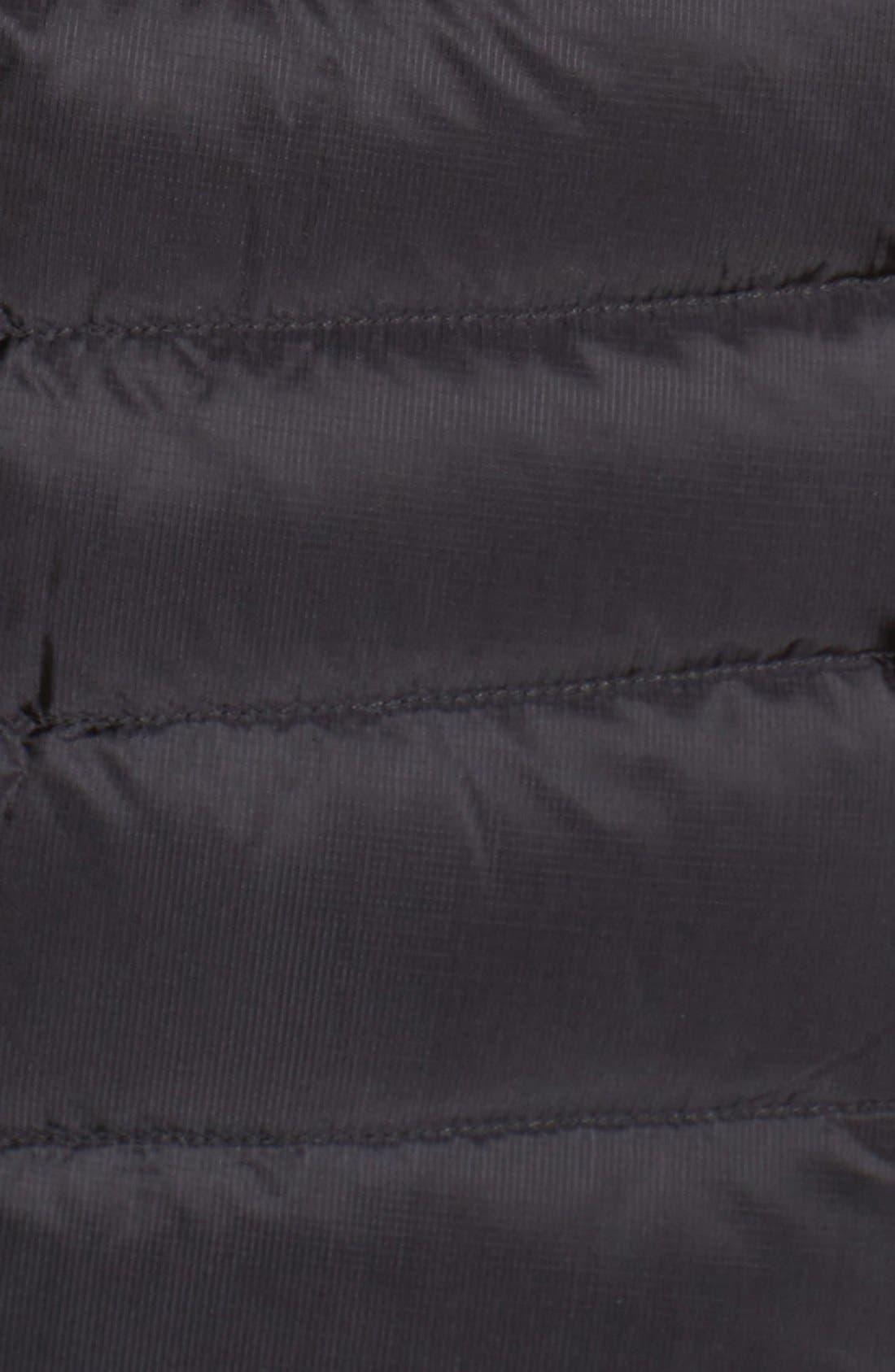 Cerium Water Resistant Down Jacket,                             Alternate thumbnail 5, color,                             Black