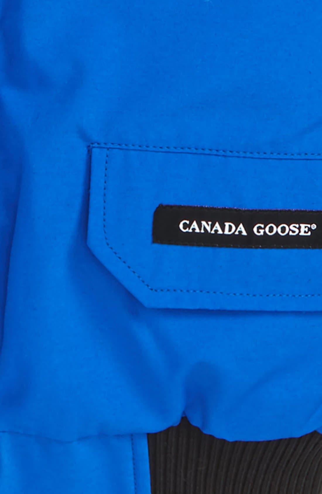 Alternate Image 2  - Canada Goose 'PBI Chilliwack' Hooded Bomber Jacket with Genuine Coyote Fur Trim (Little Boys & Big Boys)