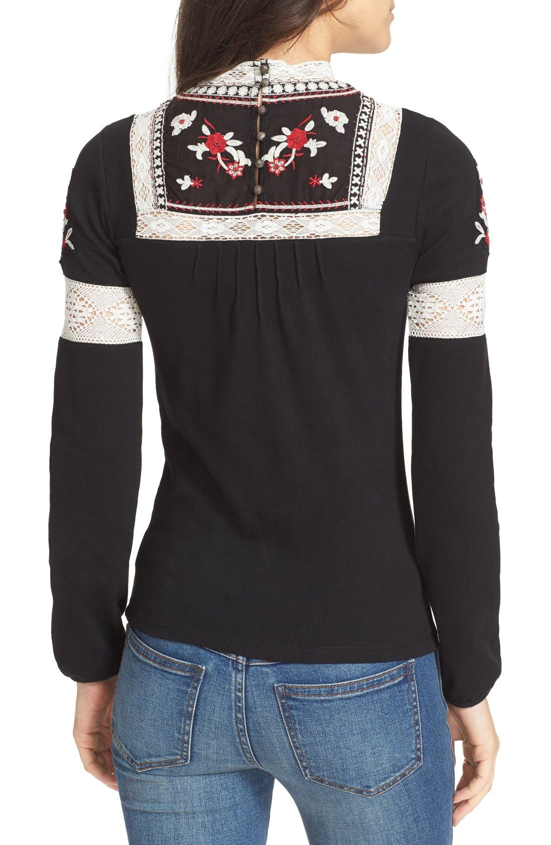 Alternate Image 2  - Free People Cozy On Up Embroidered Top