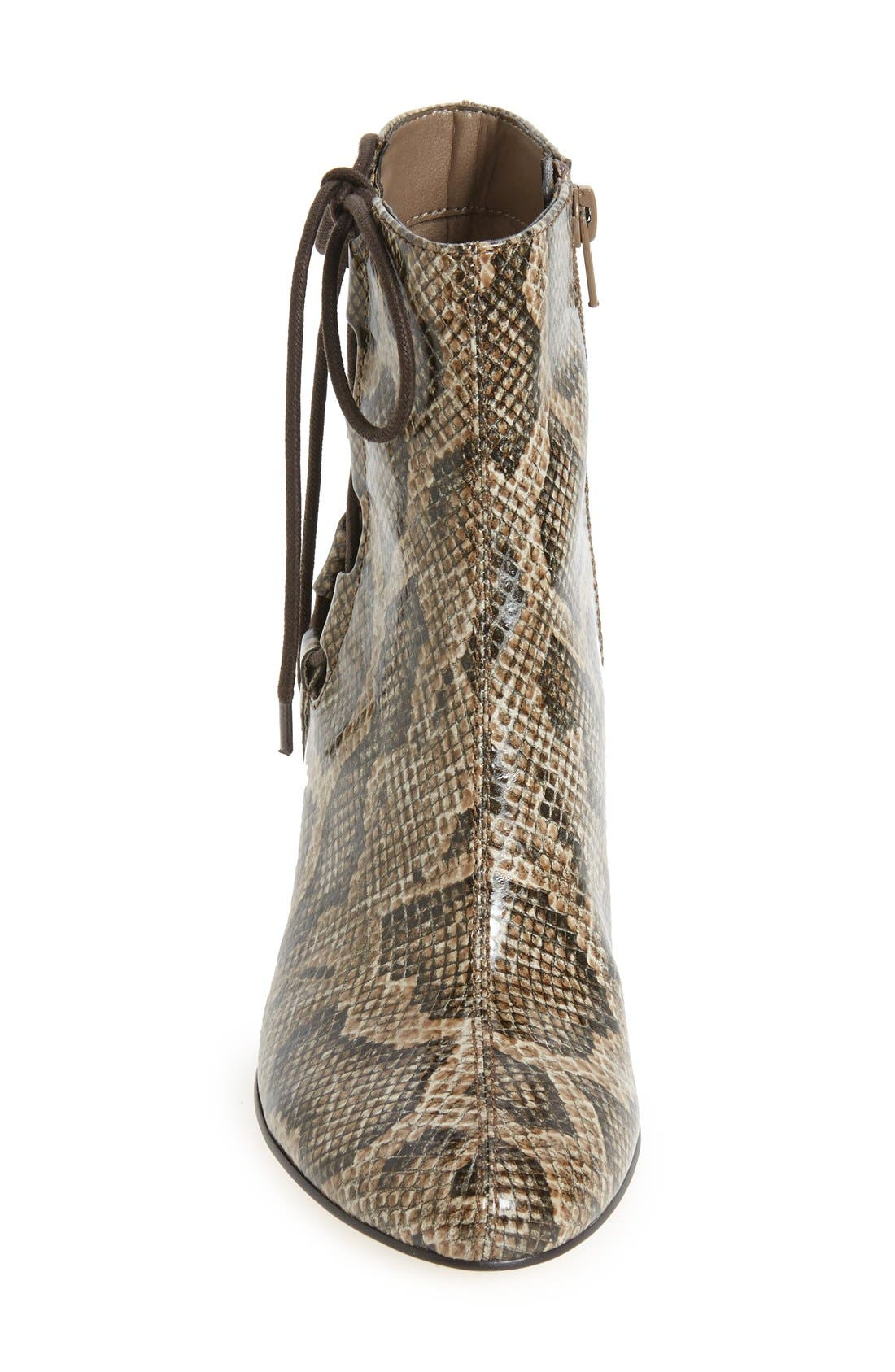 'Kirby' Bootie,                             Alternate thumbnail 3, color,                             Natural Snake Print Leather
