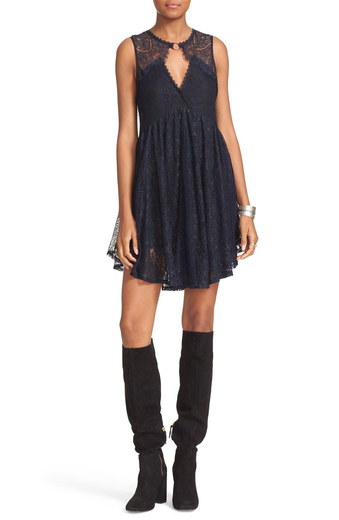 Alternate Image 1 Selected - Free People Don't You Dare Lace Shift Dress