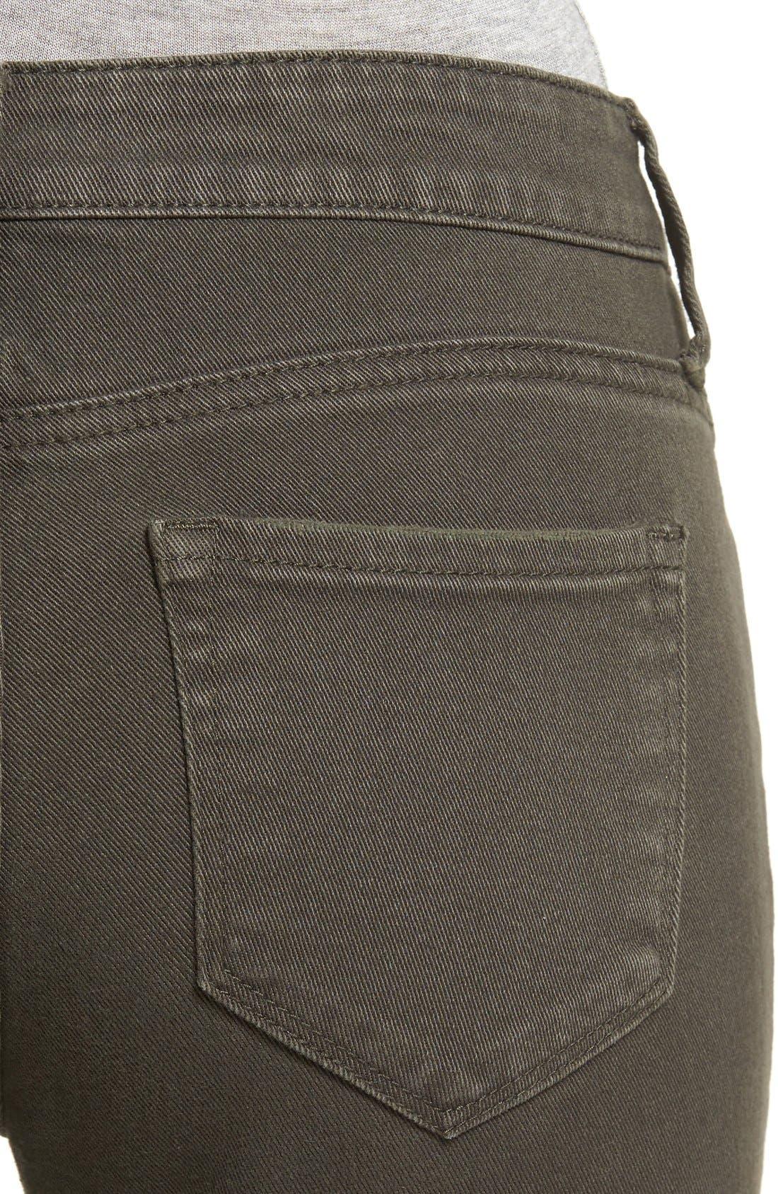 Alternate Image 4  - STS Blue 'Piper' Deconstructed Skinny Jeans (Dark Olive)